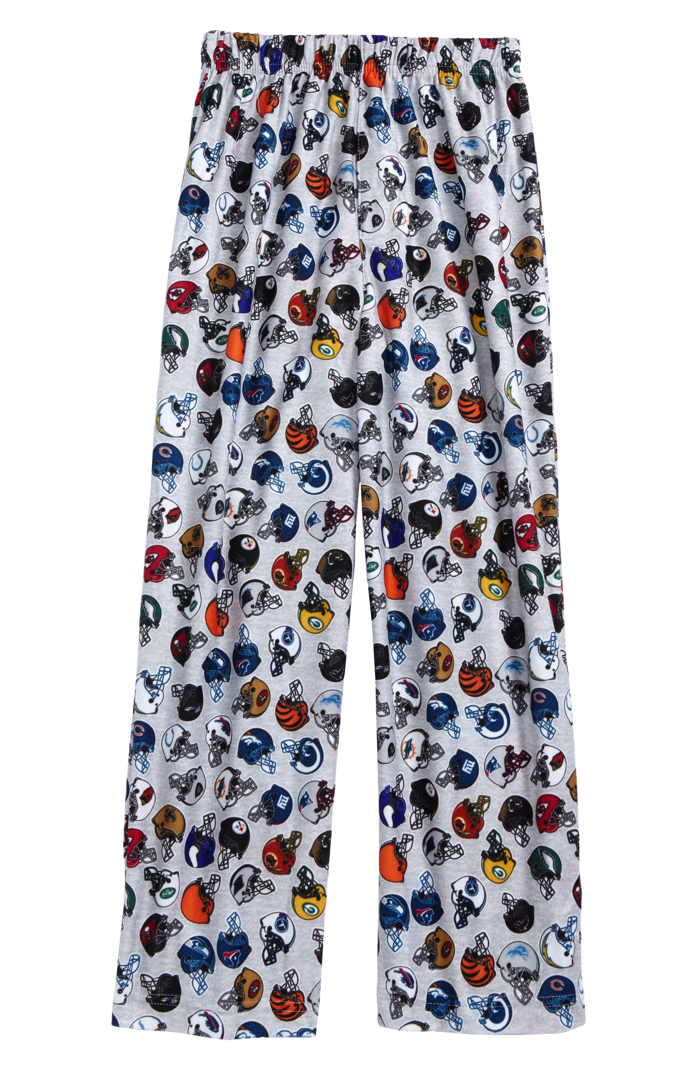 NFL Logo Print Pajama Pants (Big Boys)