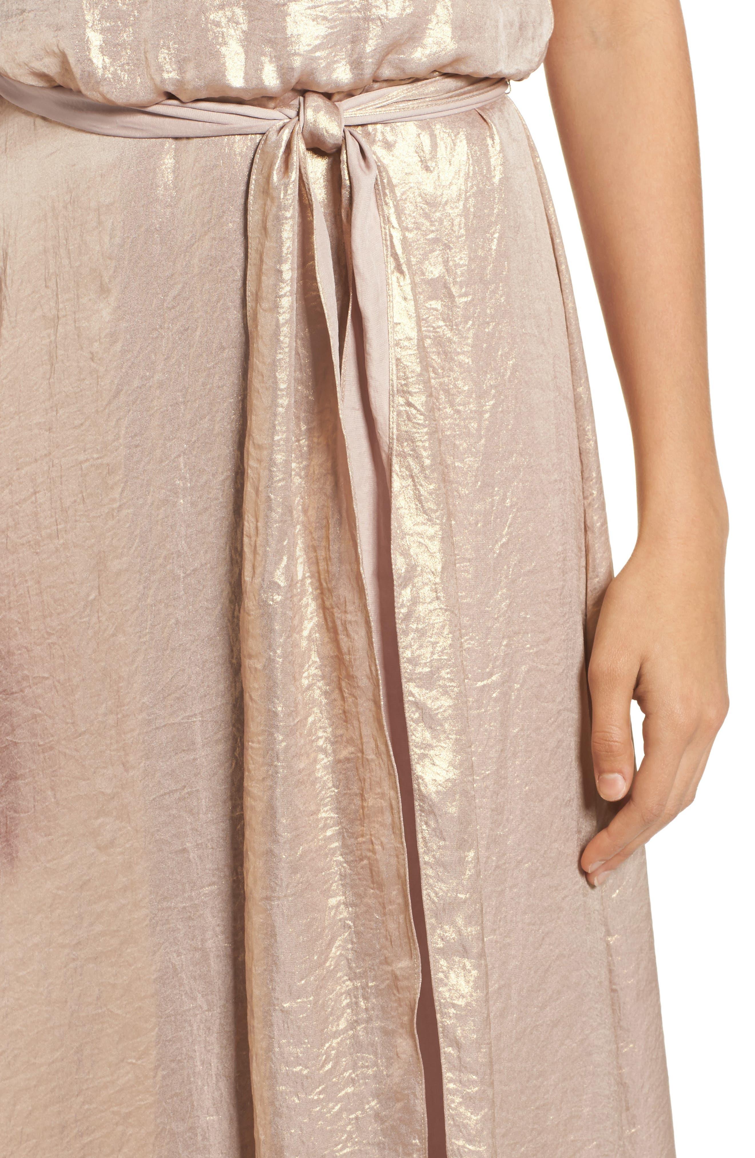Alternate Image 4  - nouvelle AMSALE Crushed Satin Blouson Gown