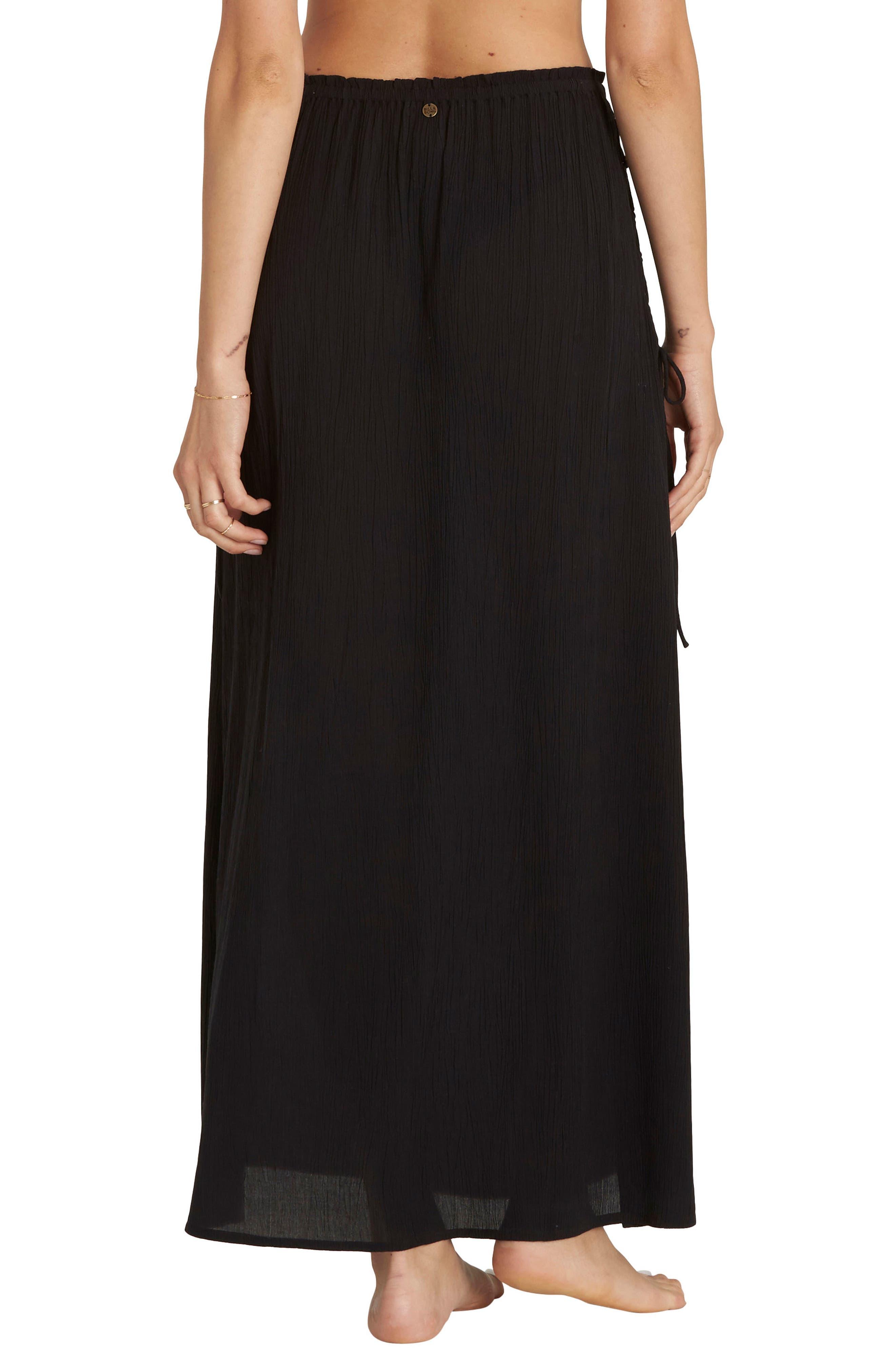 Split Heart Maxi Skirt,                             Alternate thumbnail 2, color,                             Black Pebble