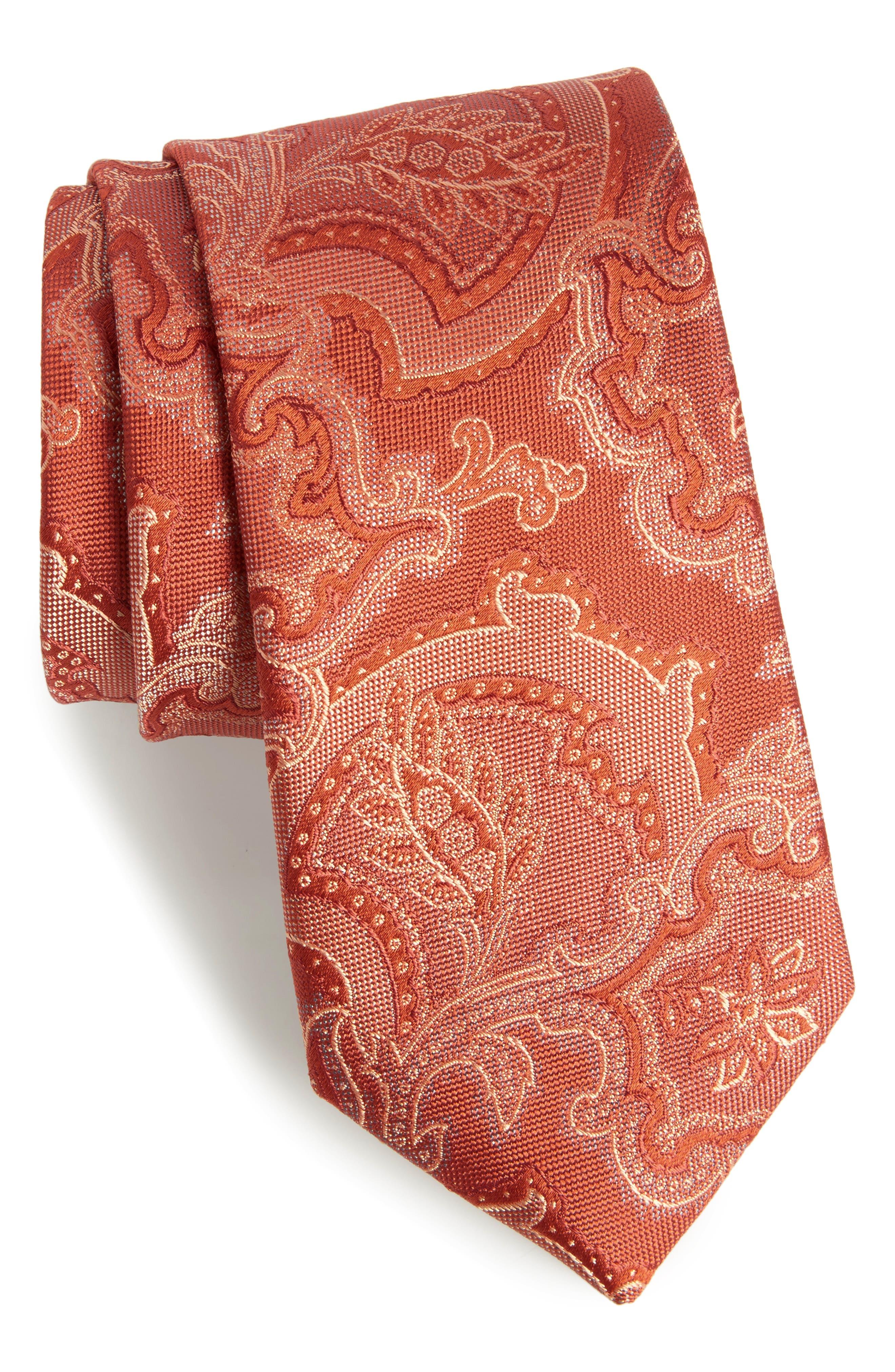 Calibrate Ellerson Paisley Silk Tie