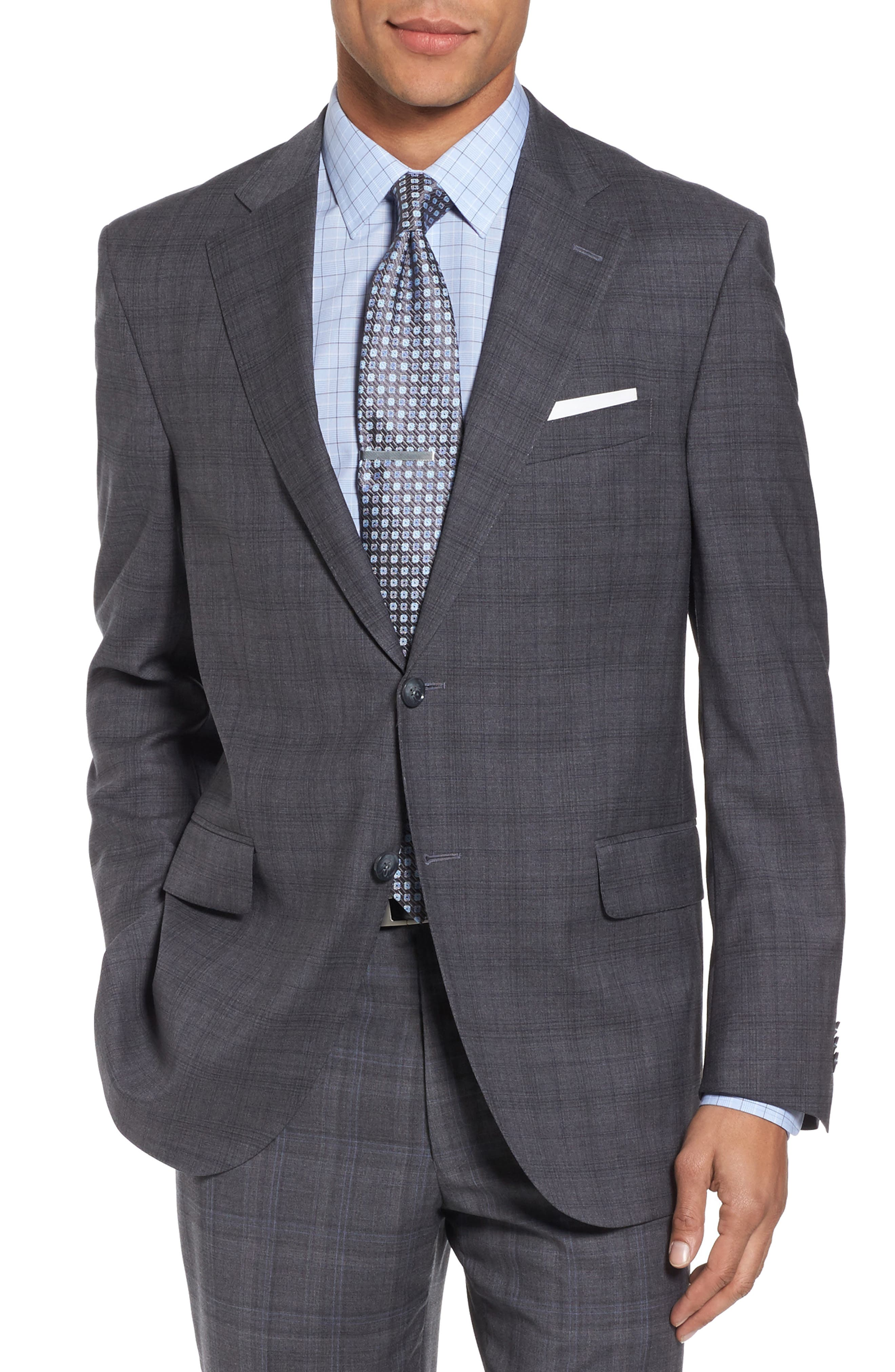 Alternate Image 5  - Peter Millar Classic Fit Plaid Wool Suit