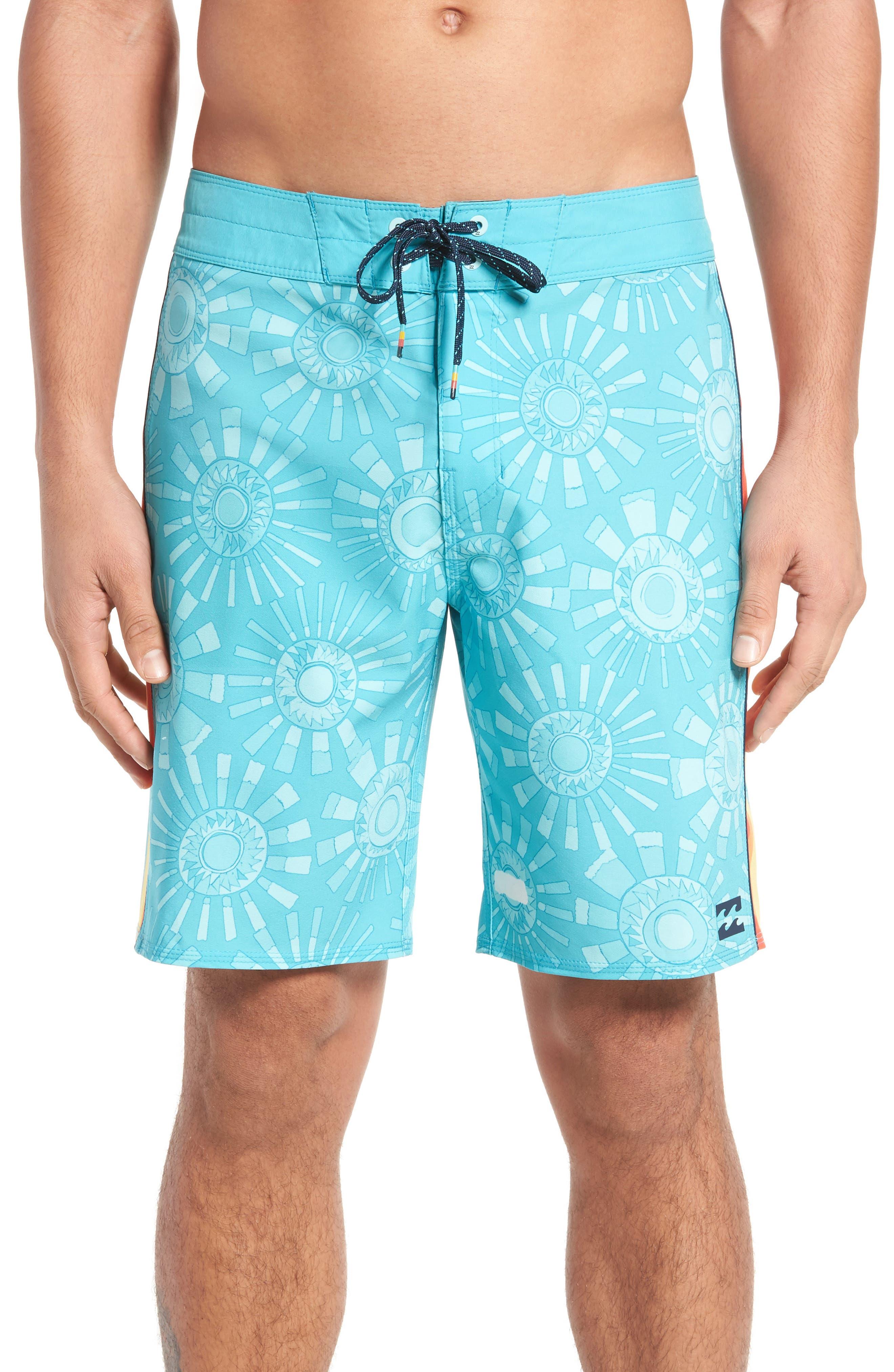 D Bah Airlite Board Shorts,                             Main thumbnail 1, color,                             Mint