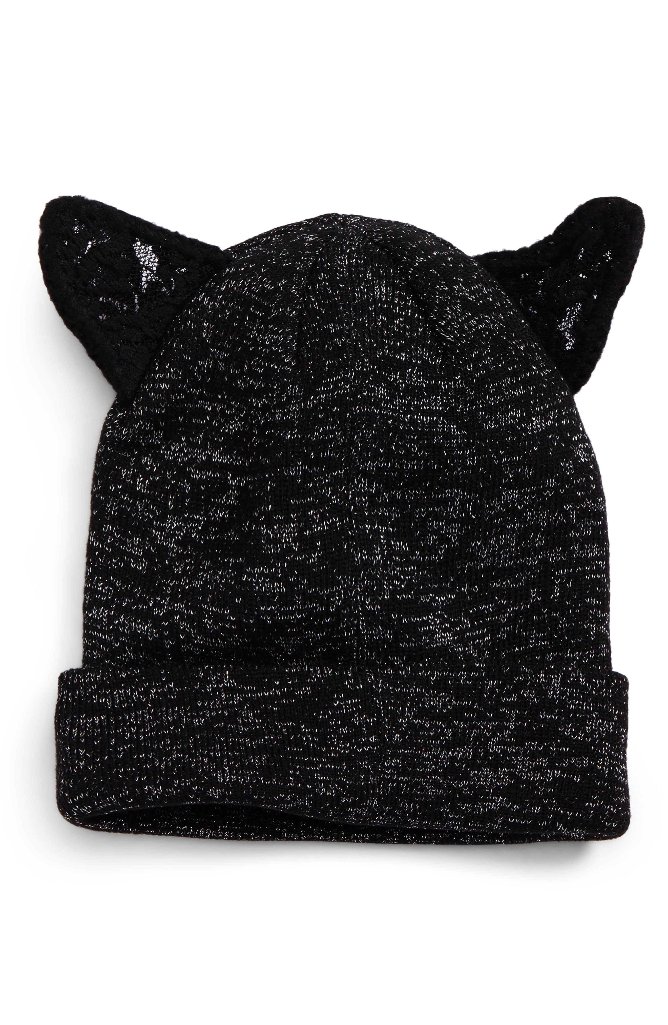David & Young Lace Cat Ear Beanie
