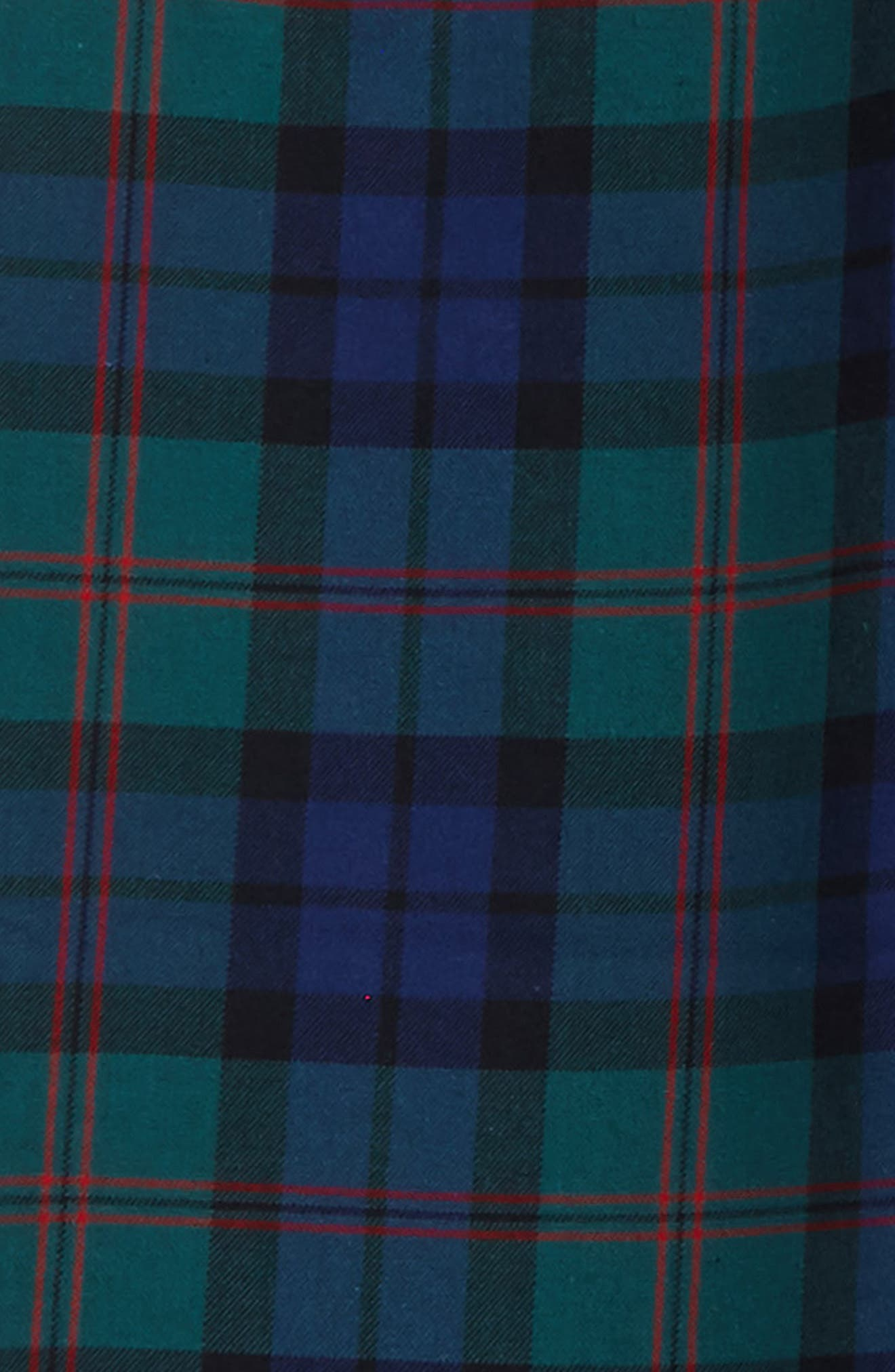 Holiday Black Watch Plaid Pants,                             Alternate thumbnail 2, color,                             Charleston Green