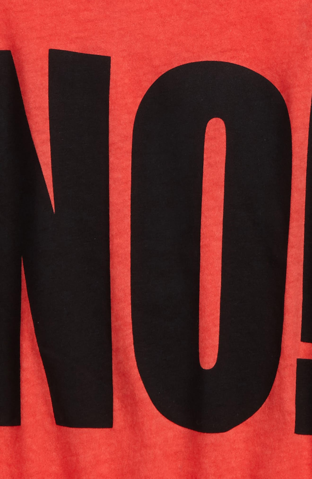 No! Graphic T-Shirt,                             Alternate thumbnail 2, color,                             Dyed Red