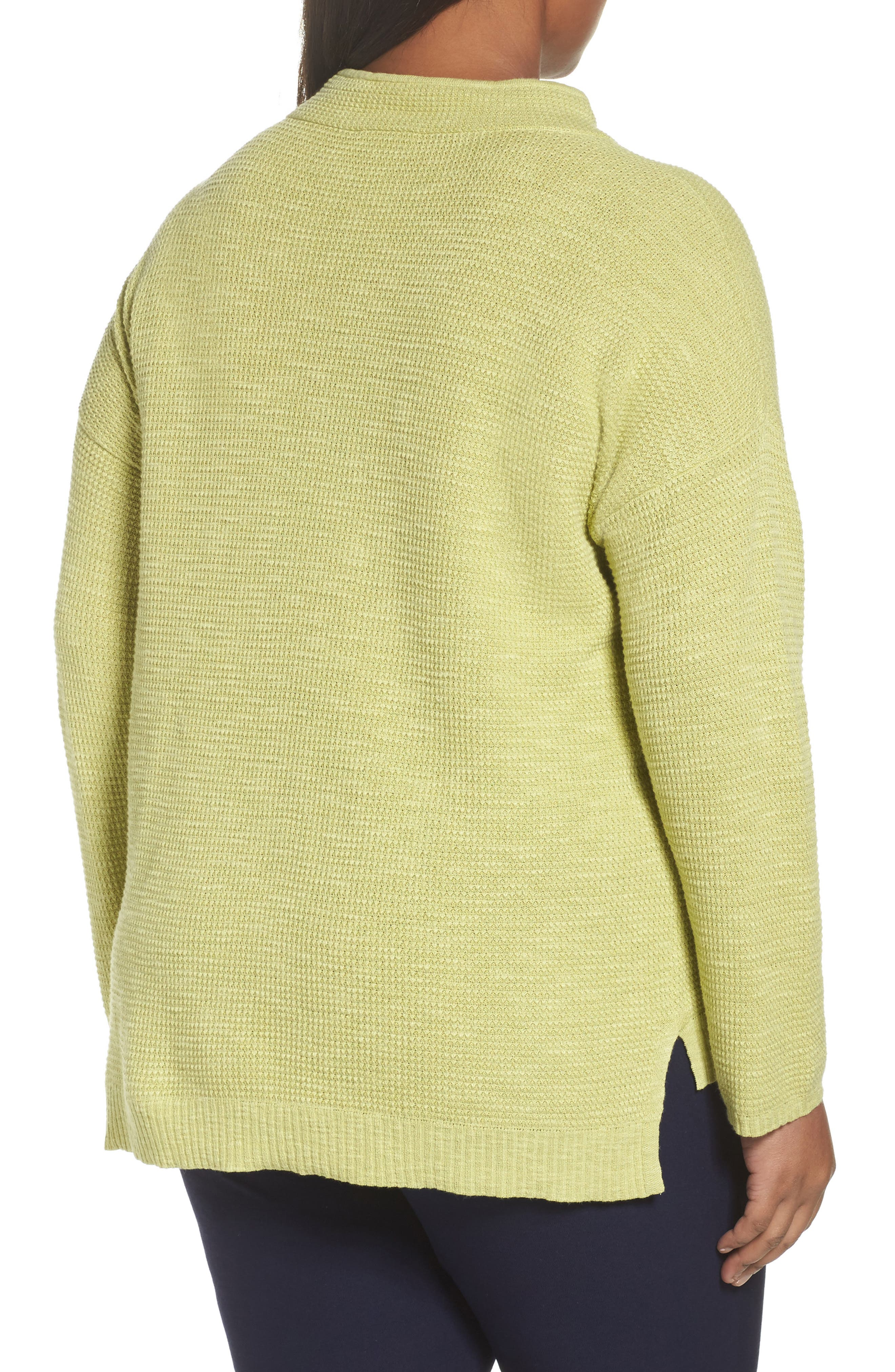 Alternate Image 2  - Eileen Fisher Drawstring Neck Organic Linen & Cotton Top (Plus Size)