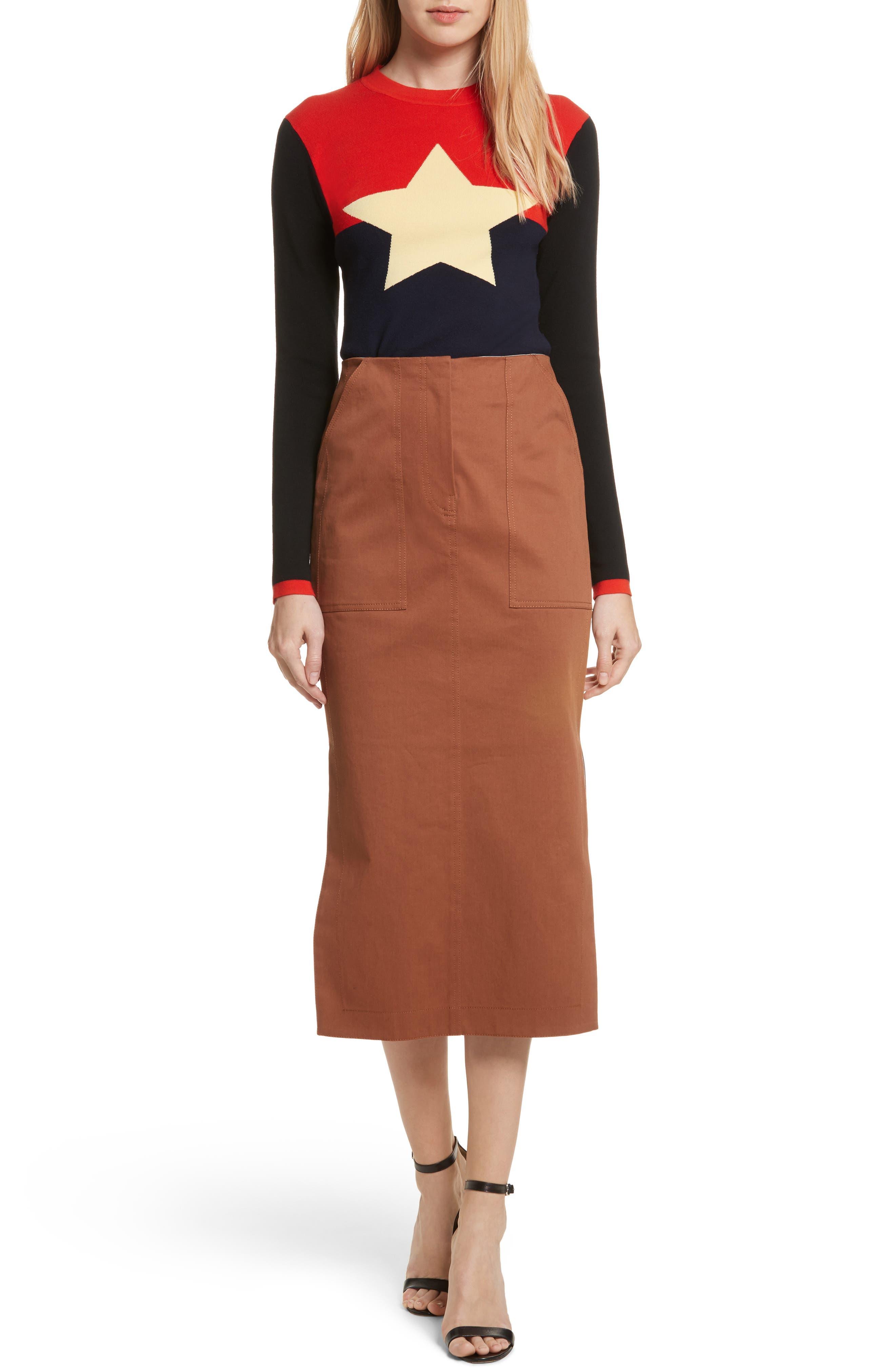 Alternate Image 8  - Diane von Furstenberg Midi Twill Pencil Skirt