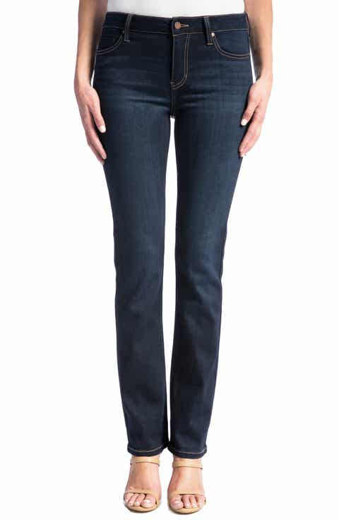 Liverpool Sadie Straight Jeans (Regular & Petite) (Stone Wash)