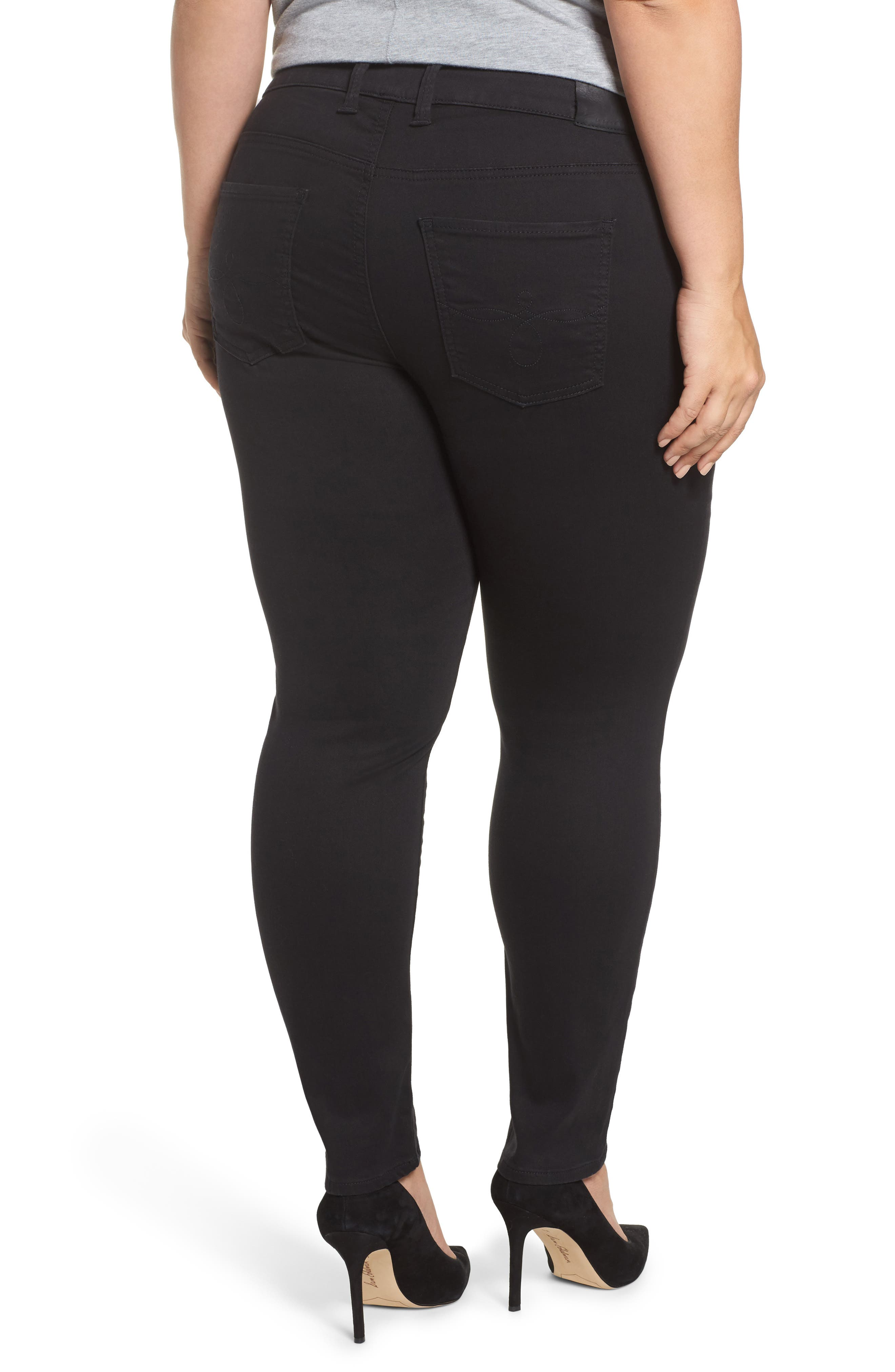 Alternate Image 2  - Lucky Brand Ginger Skinny Jeans (Bell) (Plus Size)