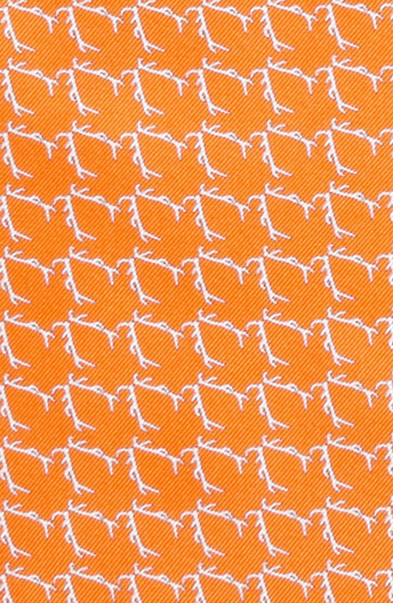 Buckwild Silk Pocket Square,                             Alternate thumbnail 3, color,                             Orange