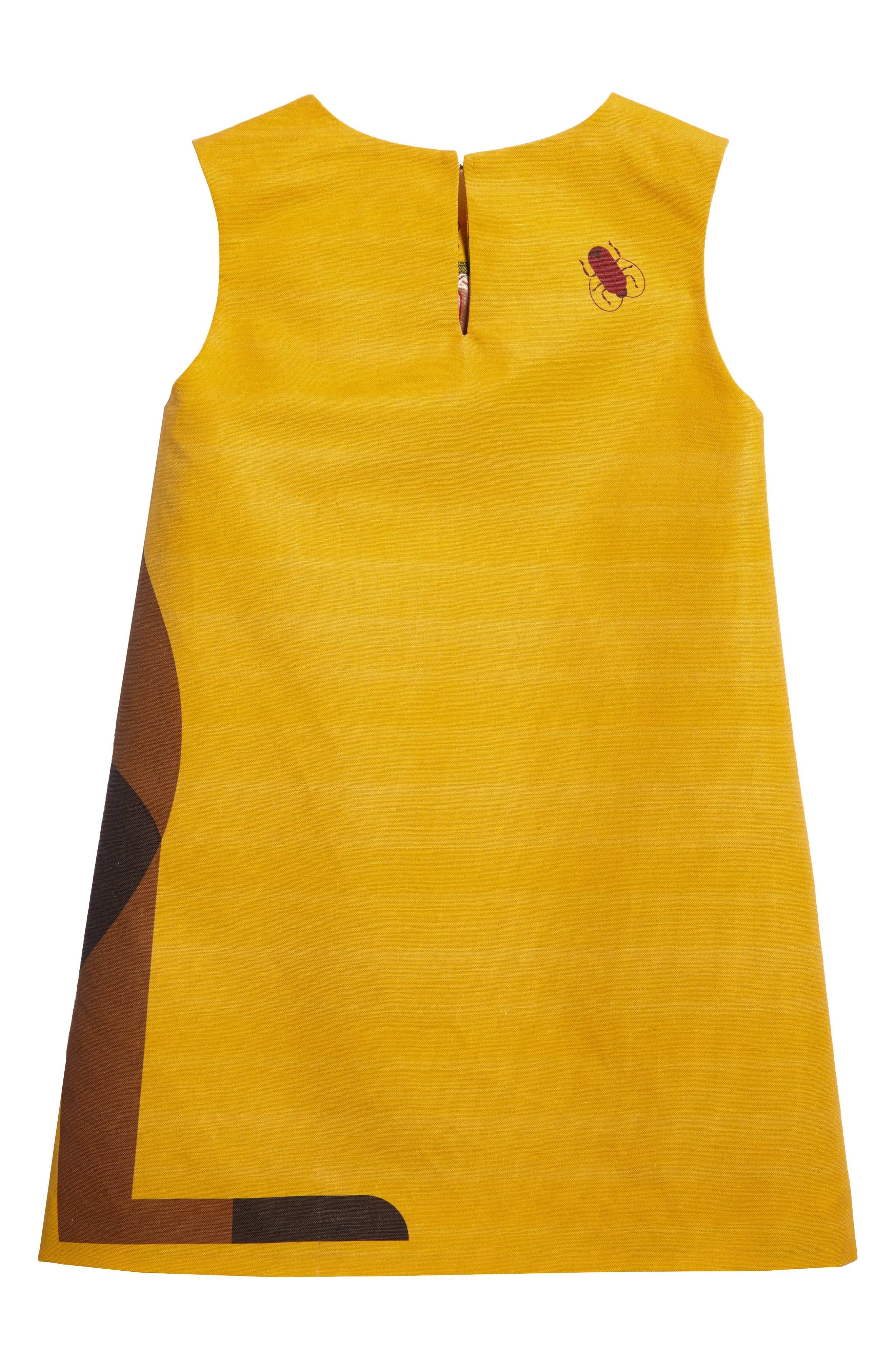 Kangaroo Shift Dress,                             Alternate thumbnail 2, color,                             Marigold