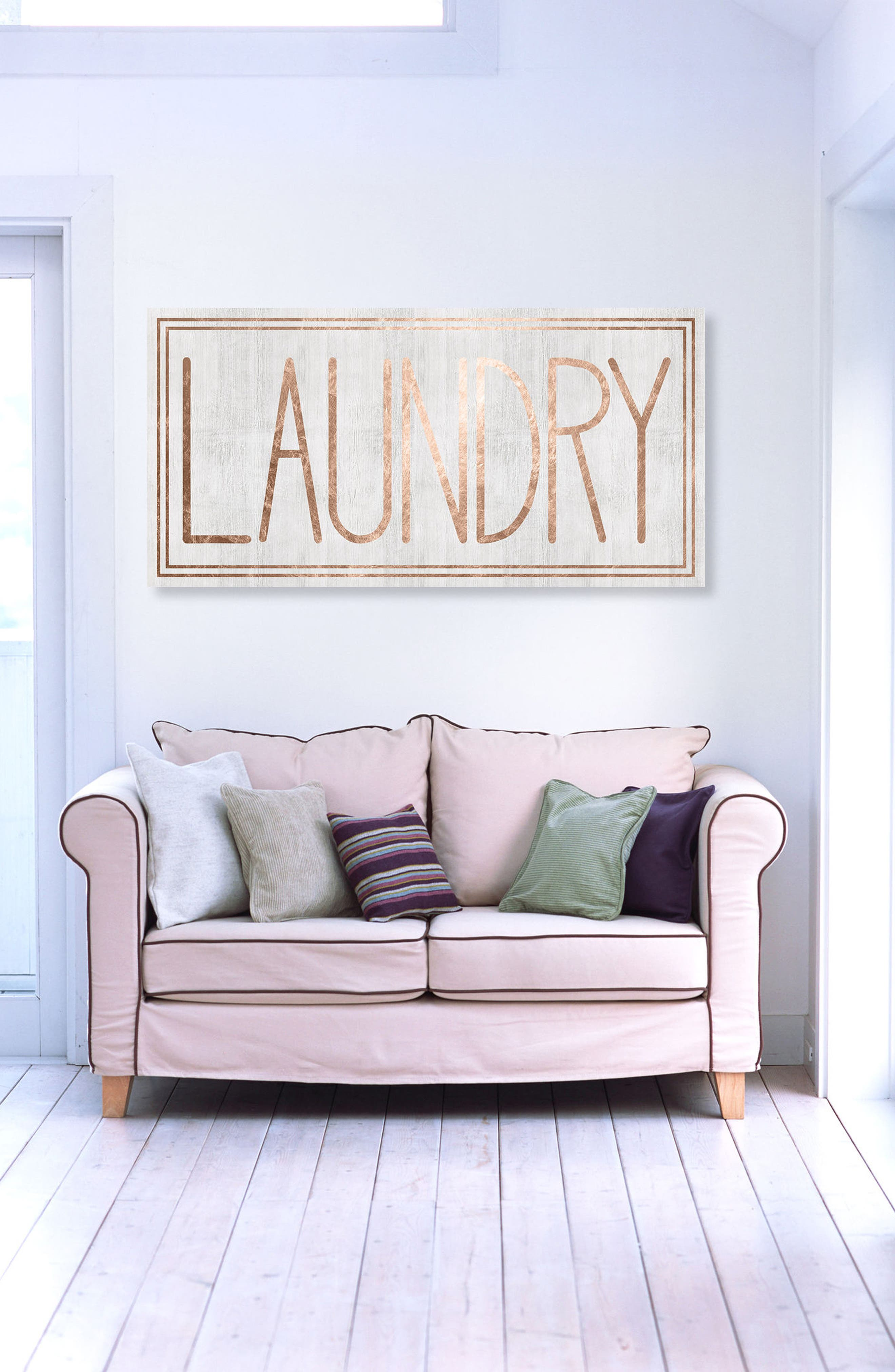 Laundry Canvas Wall Art,                             Alternate thumbnail 2, color,                             White