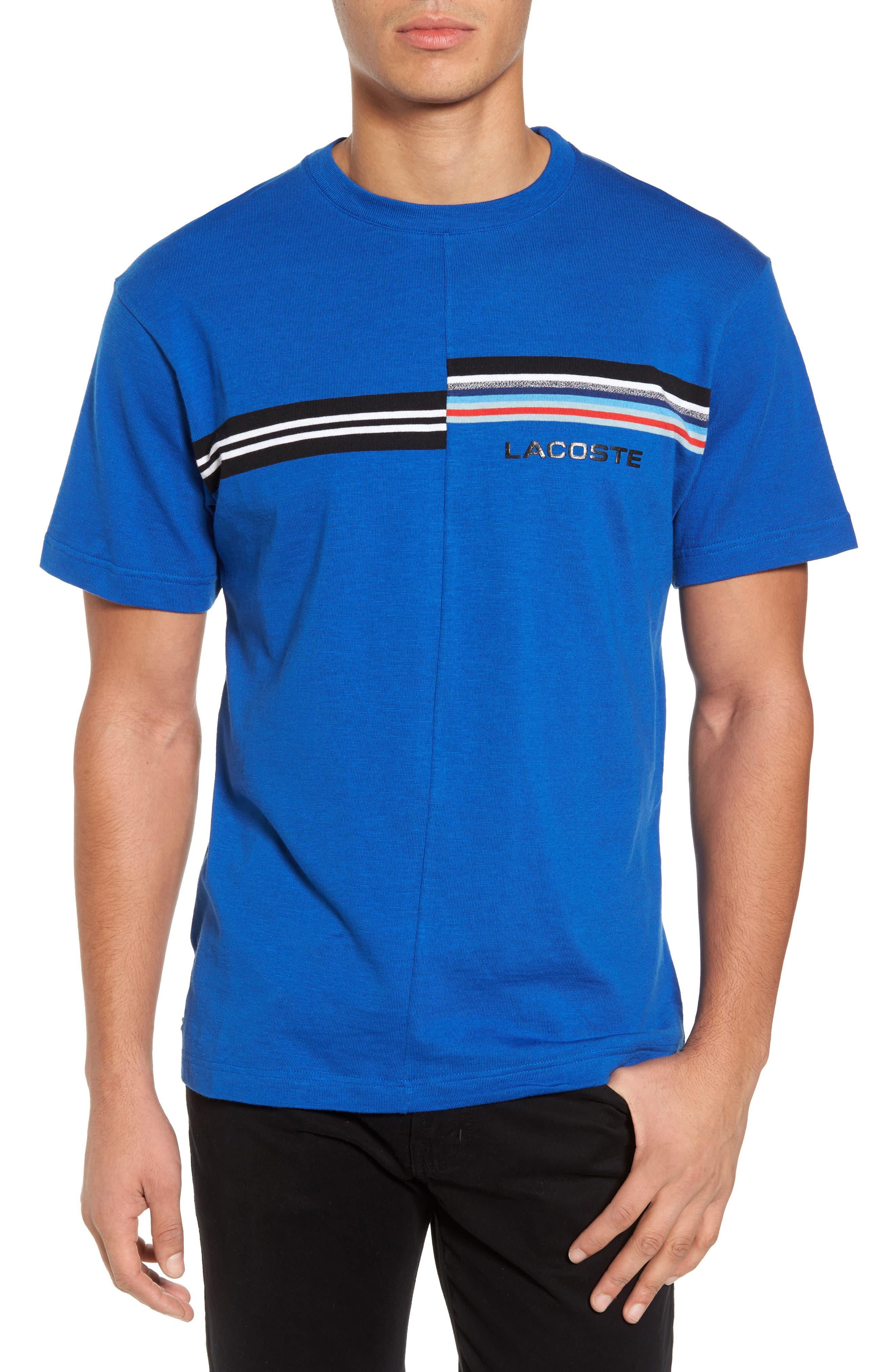 Mouline T-Shirt,                             Main thumbnail 1, color,                             Qzp Royal/ Multico