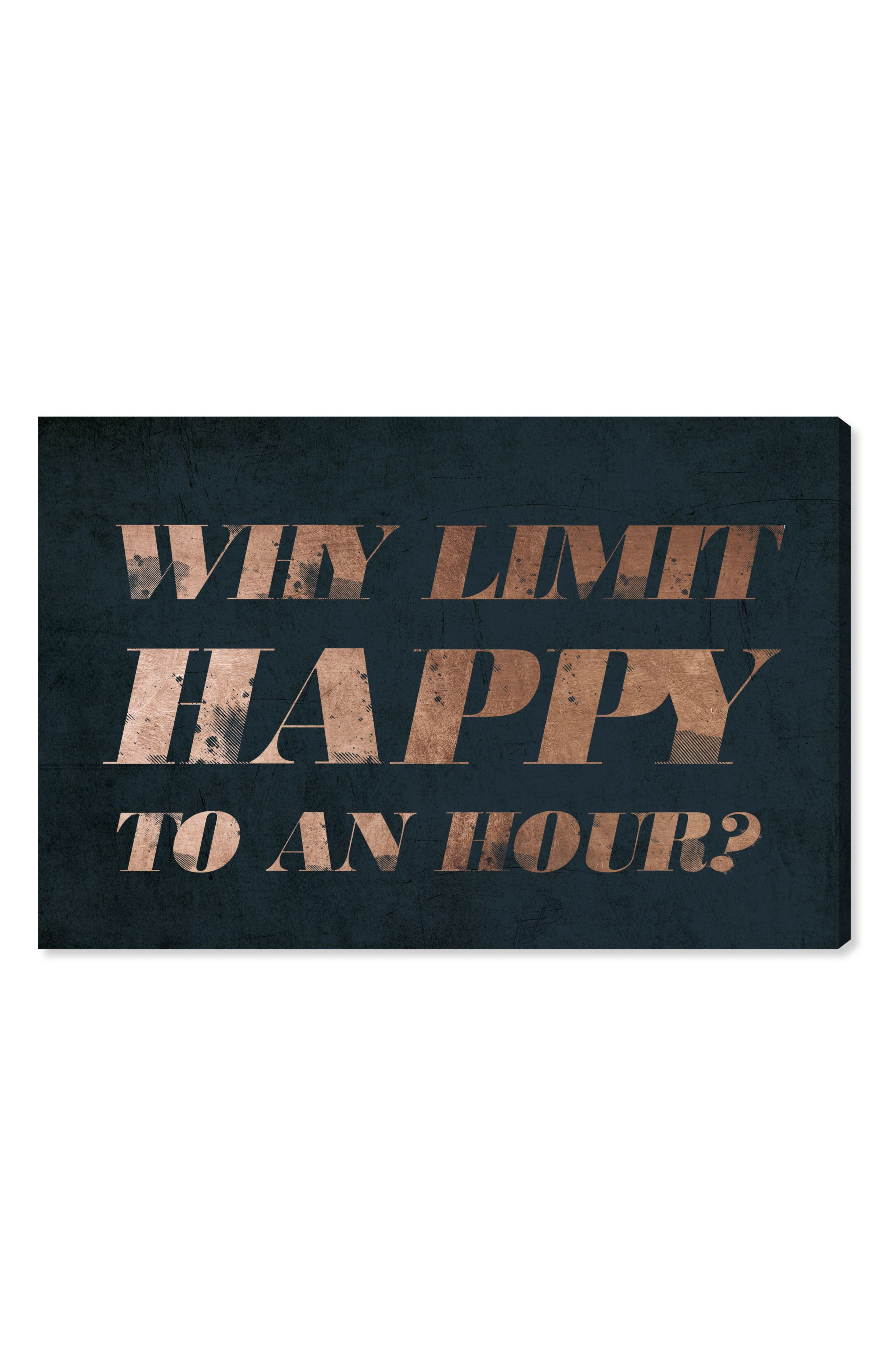 Happy Hour Canvas Wall Art,                         Main,                         color, Blue