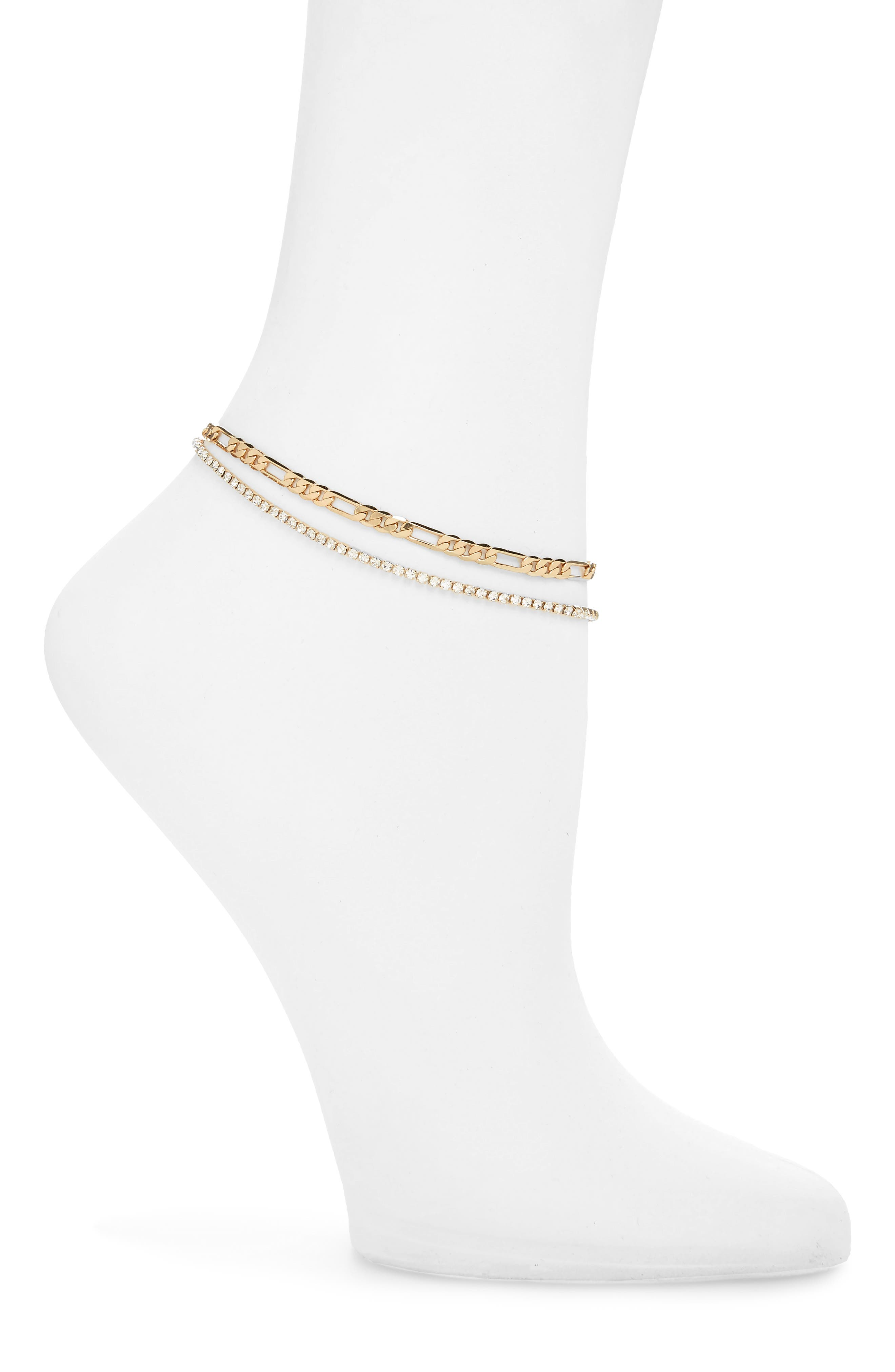 BP. Crystal Chain Anklet