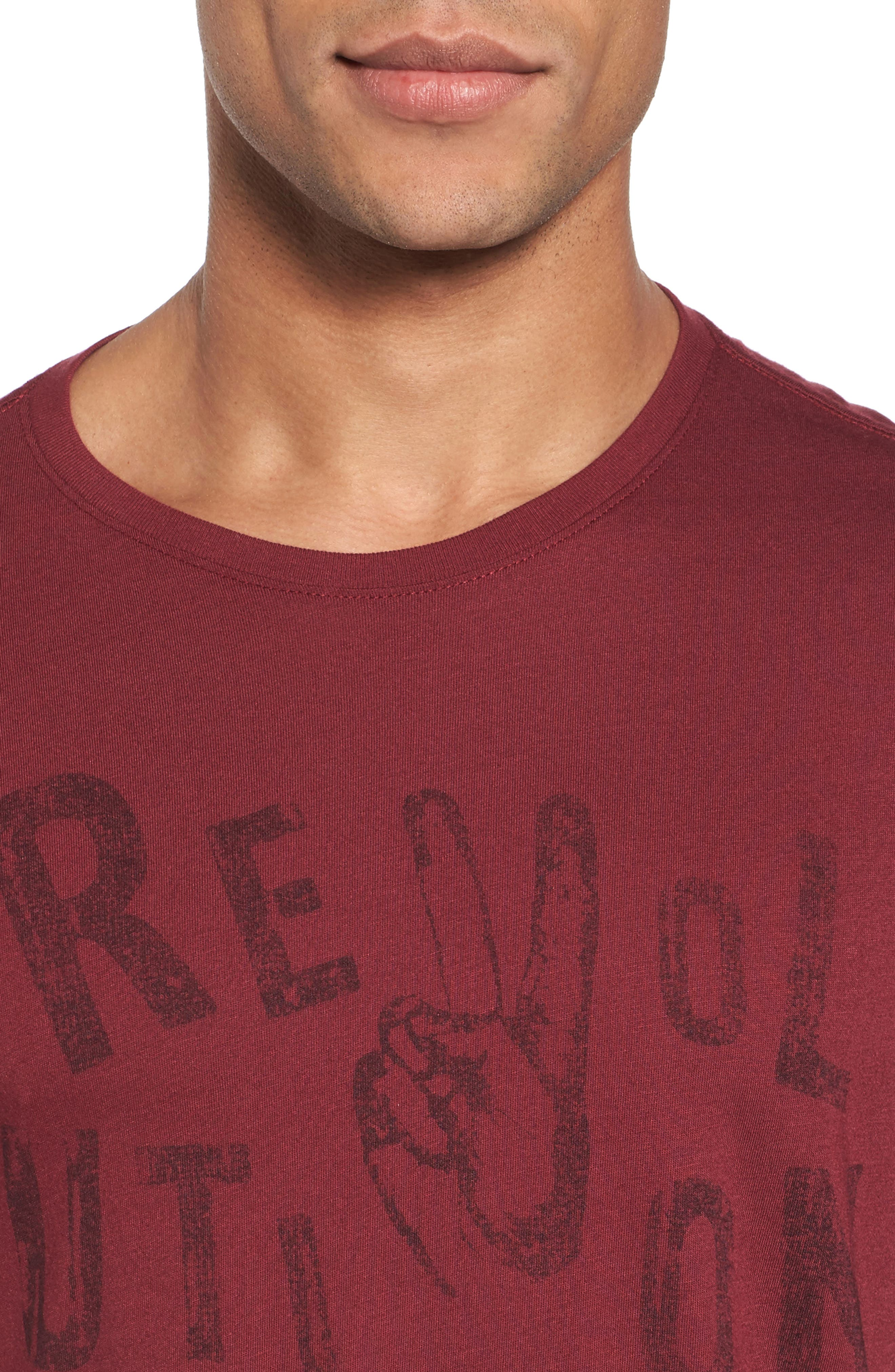 Revolution Graphic T-Shirt,                             Alternate thumbnail 4, color,                             Oxblood