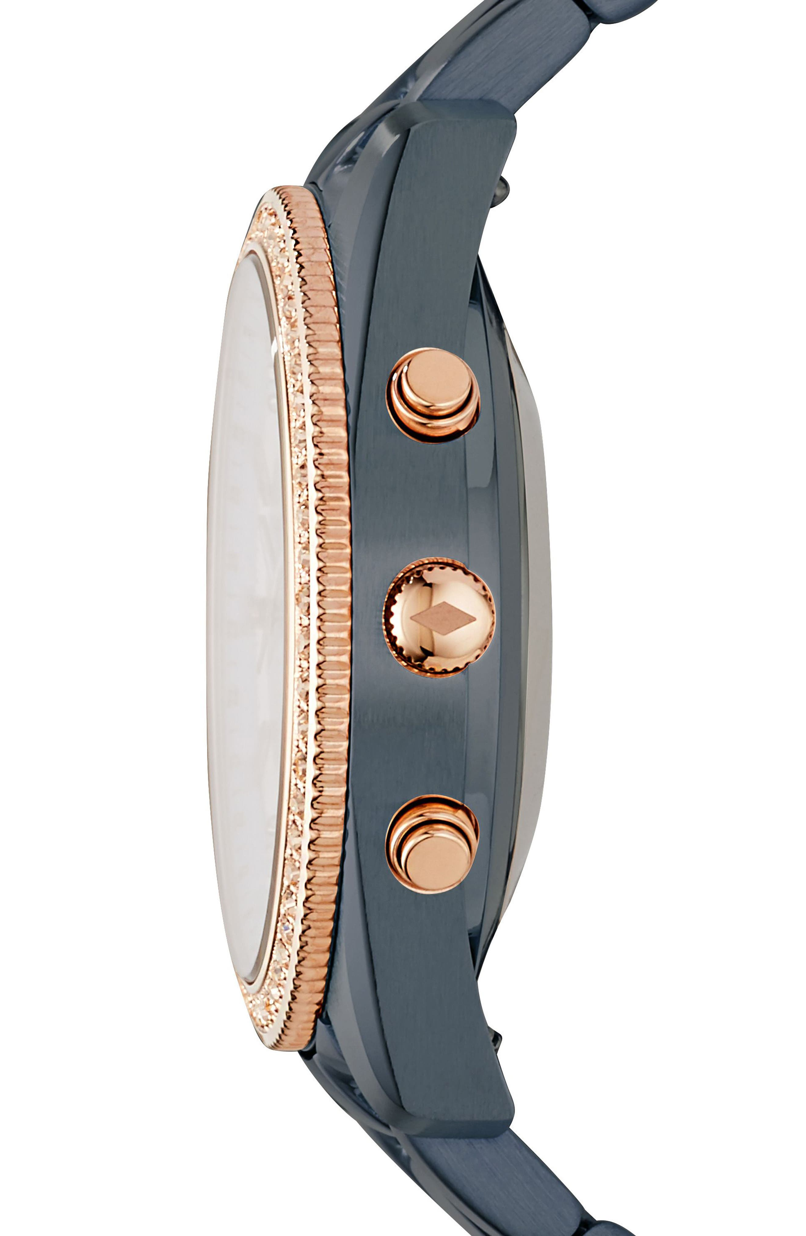 Scarlette Smart Bracelet Watch, 38mm,                             Alternate thumbnail 2, color,                             Blue/ Rose Gold