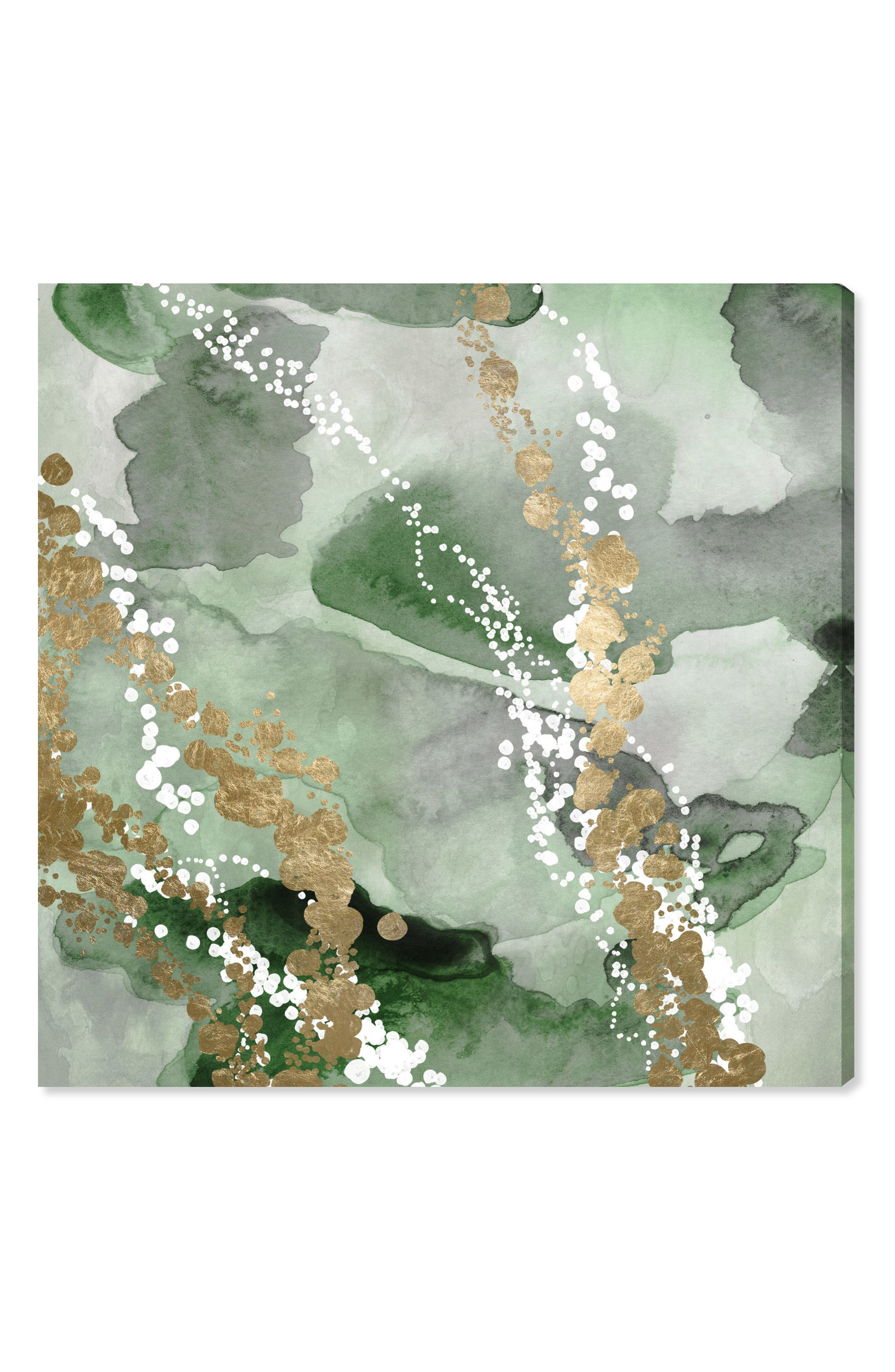 Oliver Gal Even More Love Green Canvas Wall Art