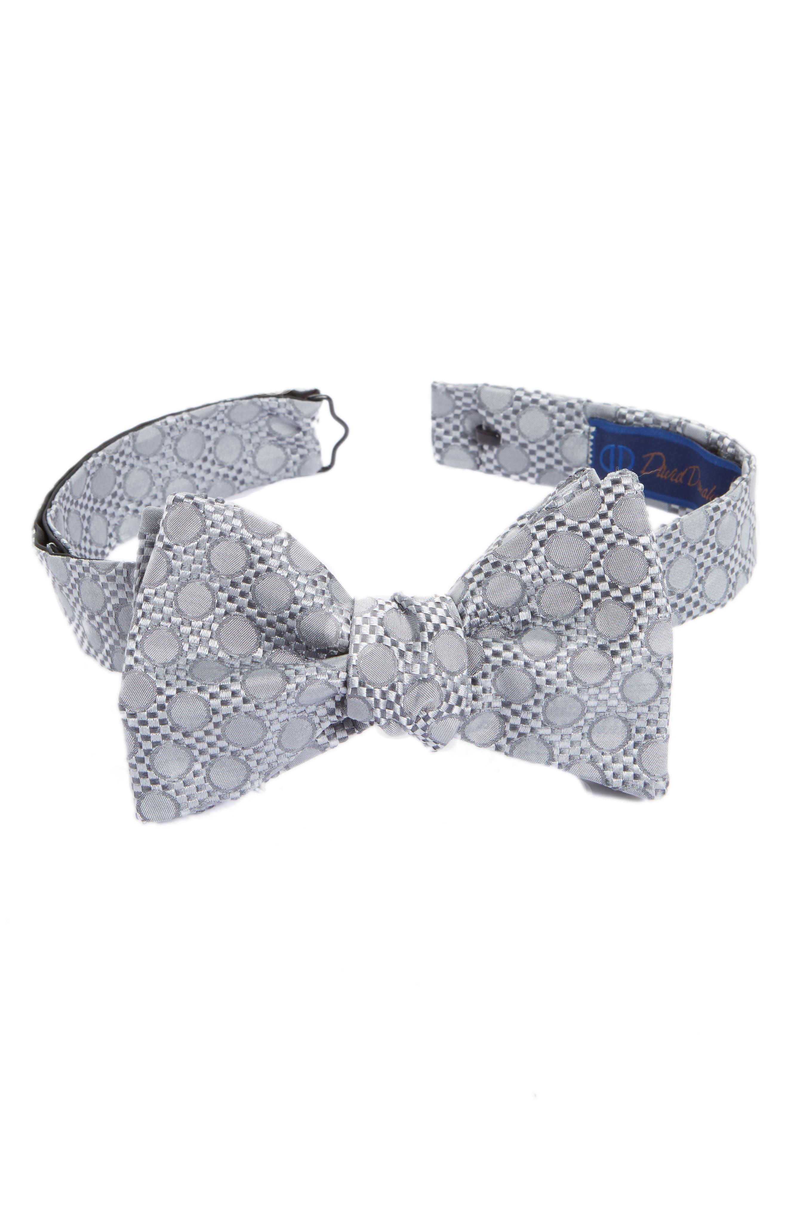David Donahue Dot Silk Bow Tie