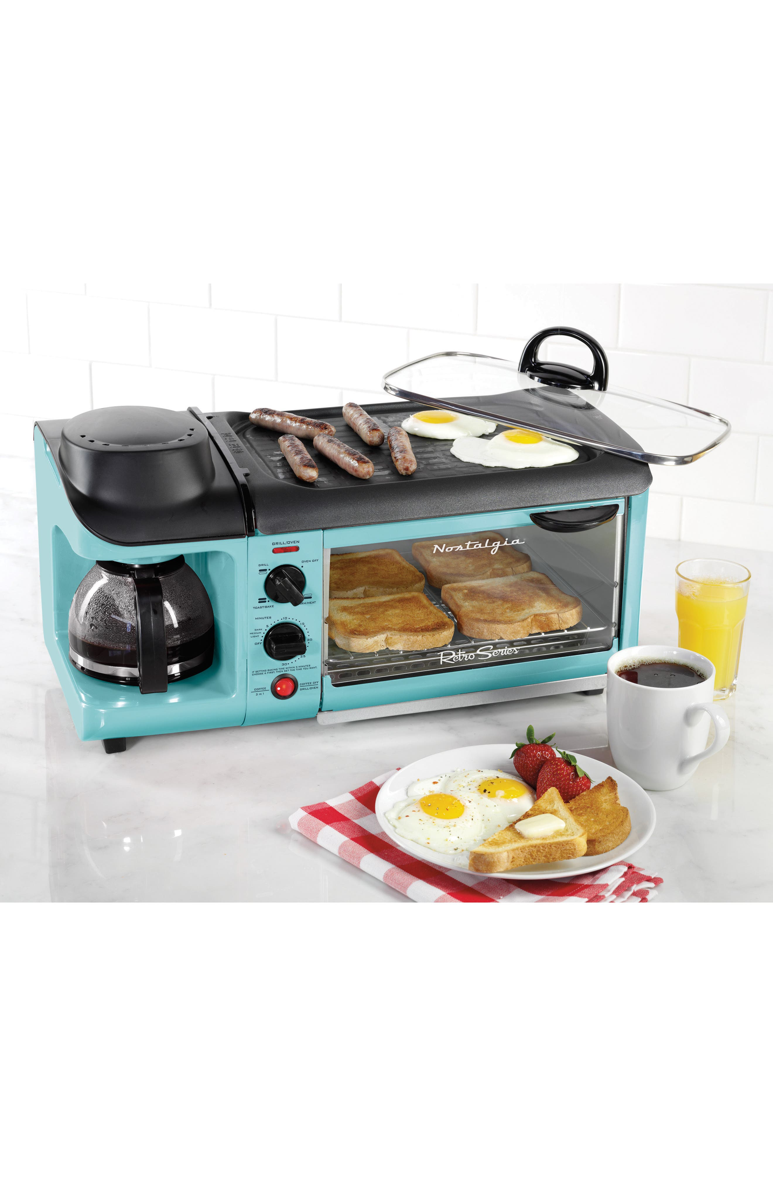 3-in-1 Breakfast Station,                         Main,                         color, Blue