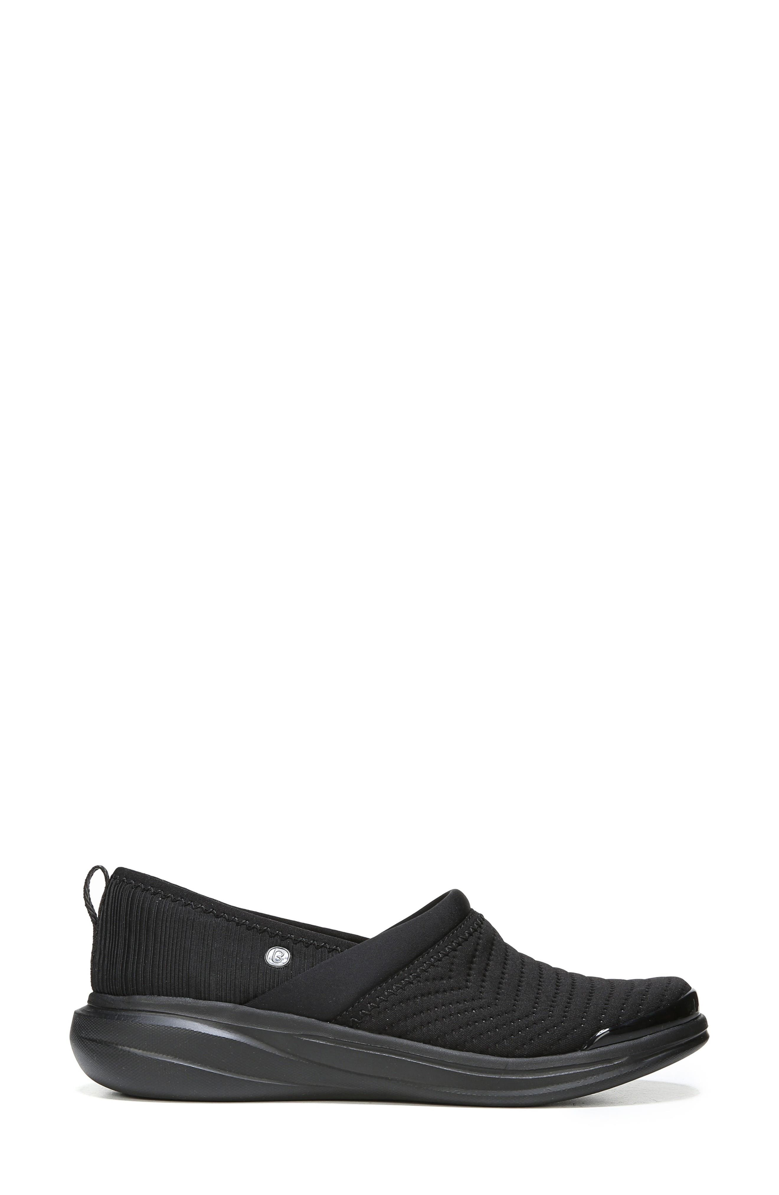 Coco Slip-On Sneaker,                             Alternate thumbnail 3, color,                             Black Fabric