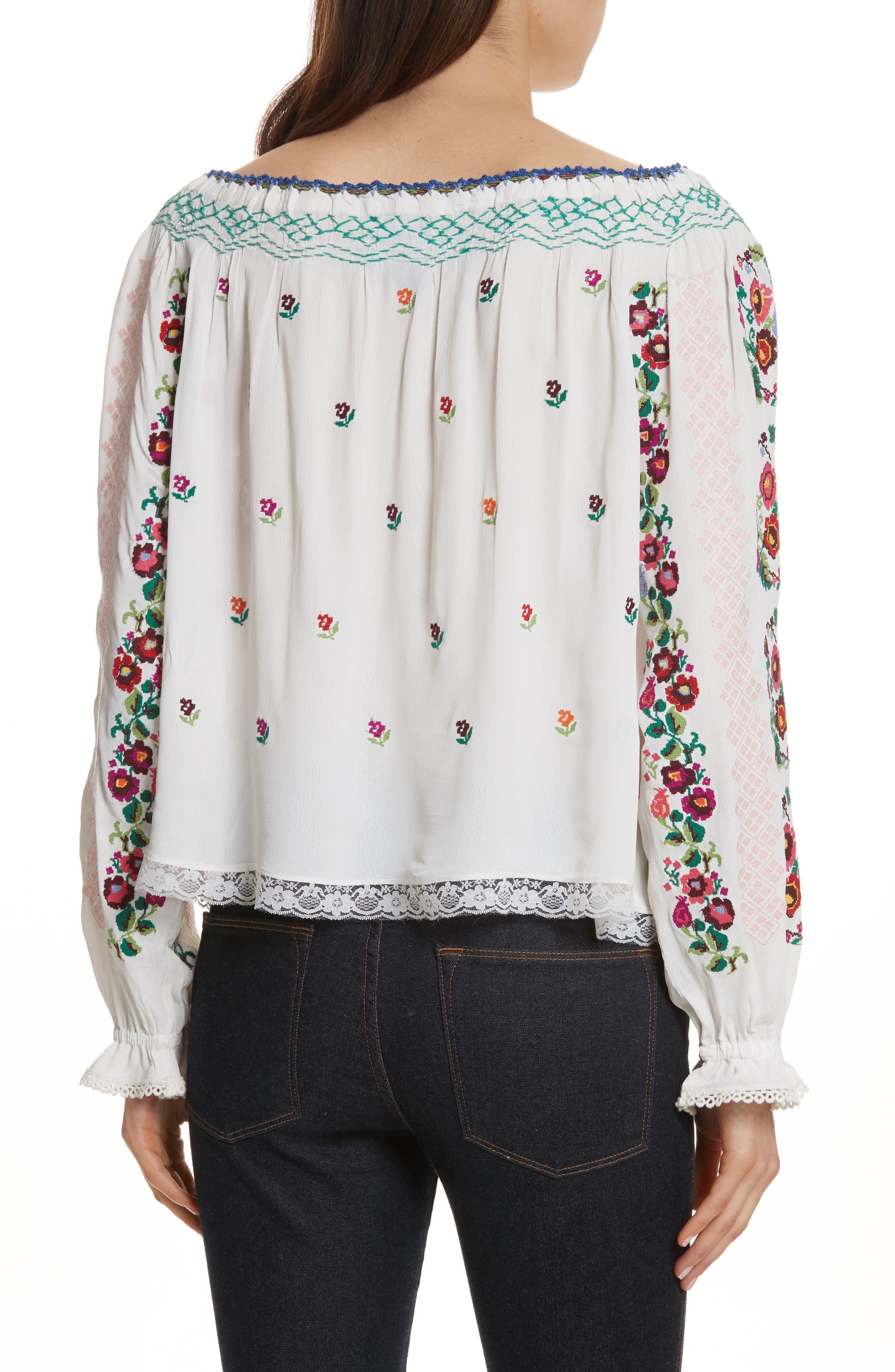 Alternate Image 2  - Needle & Thread Cross Stitch Floral Top