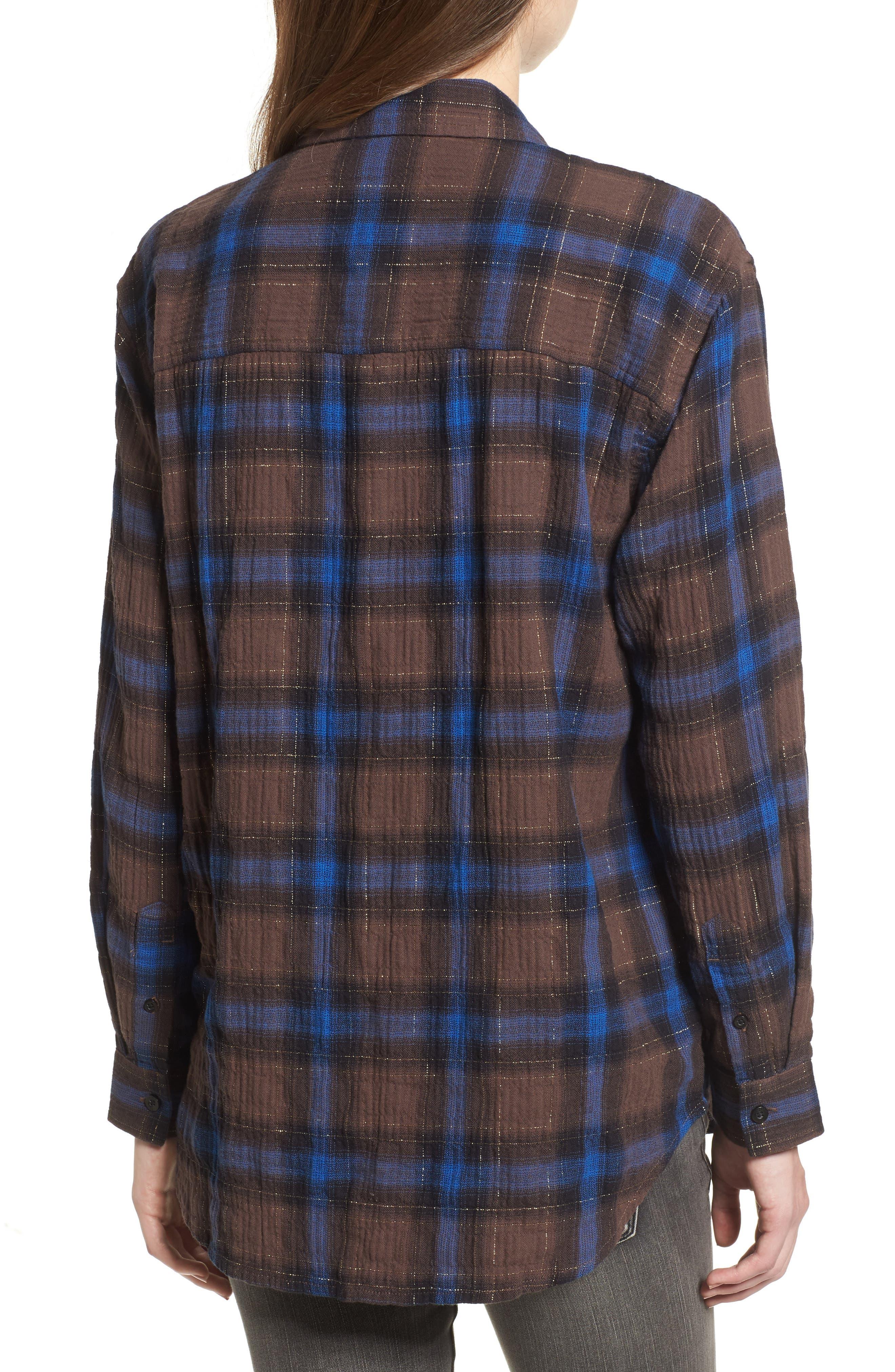 Eldorado Plaid Shirt,                             Alternate thumbnail 2, color,                             Brown Multi