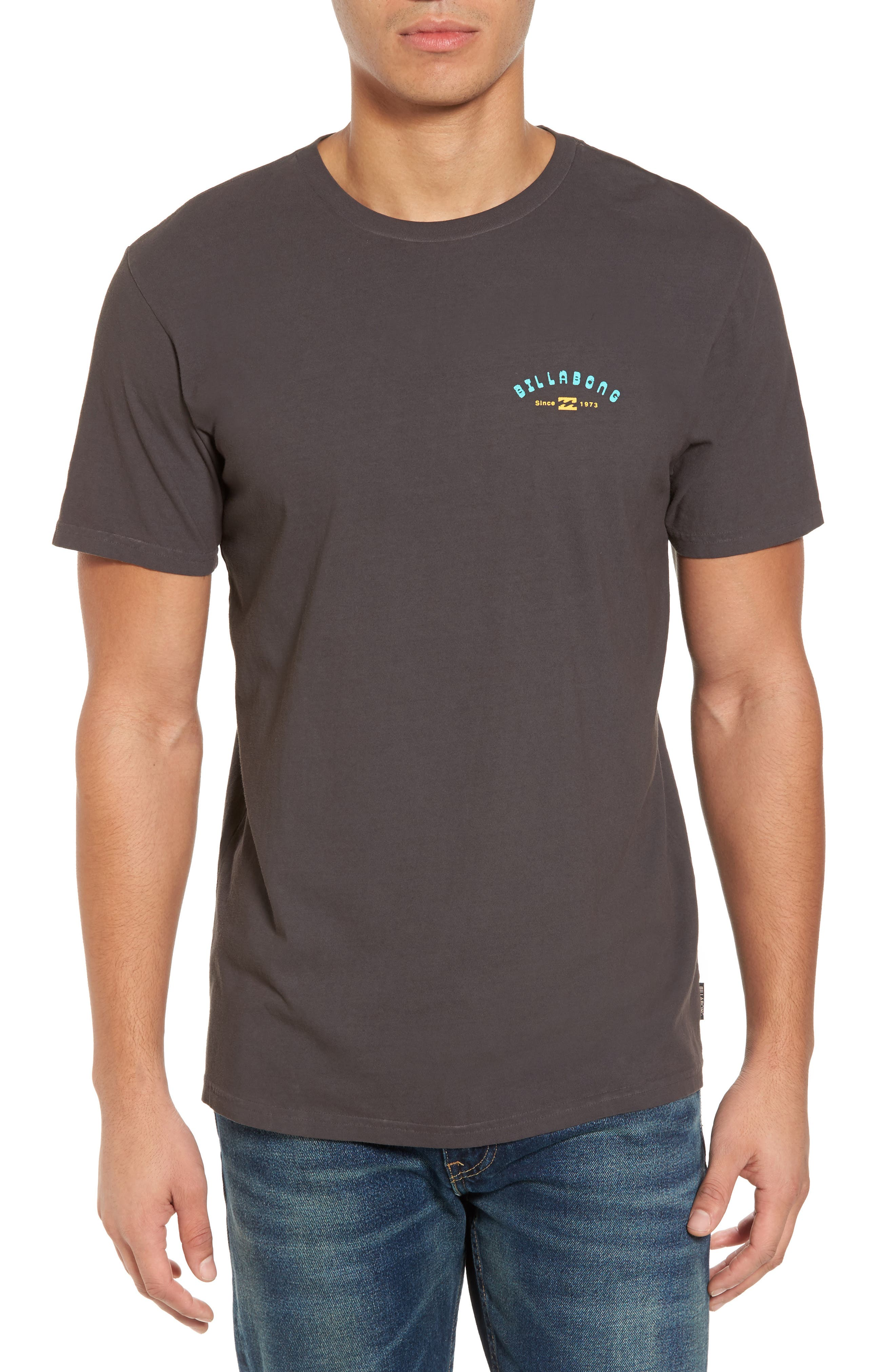 Single Fin Graphic T-Shirt,                         Main,                         color, Char