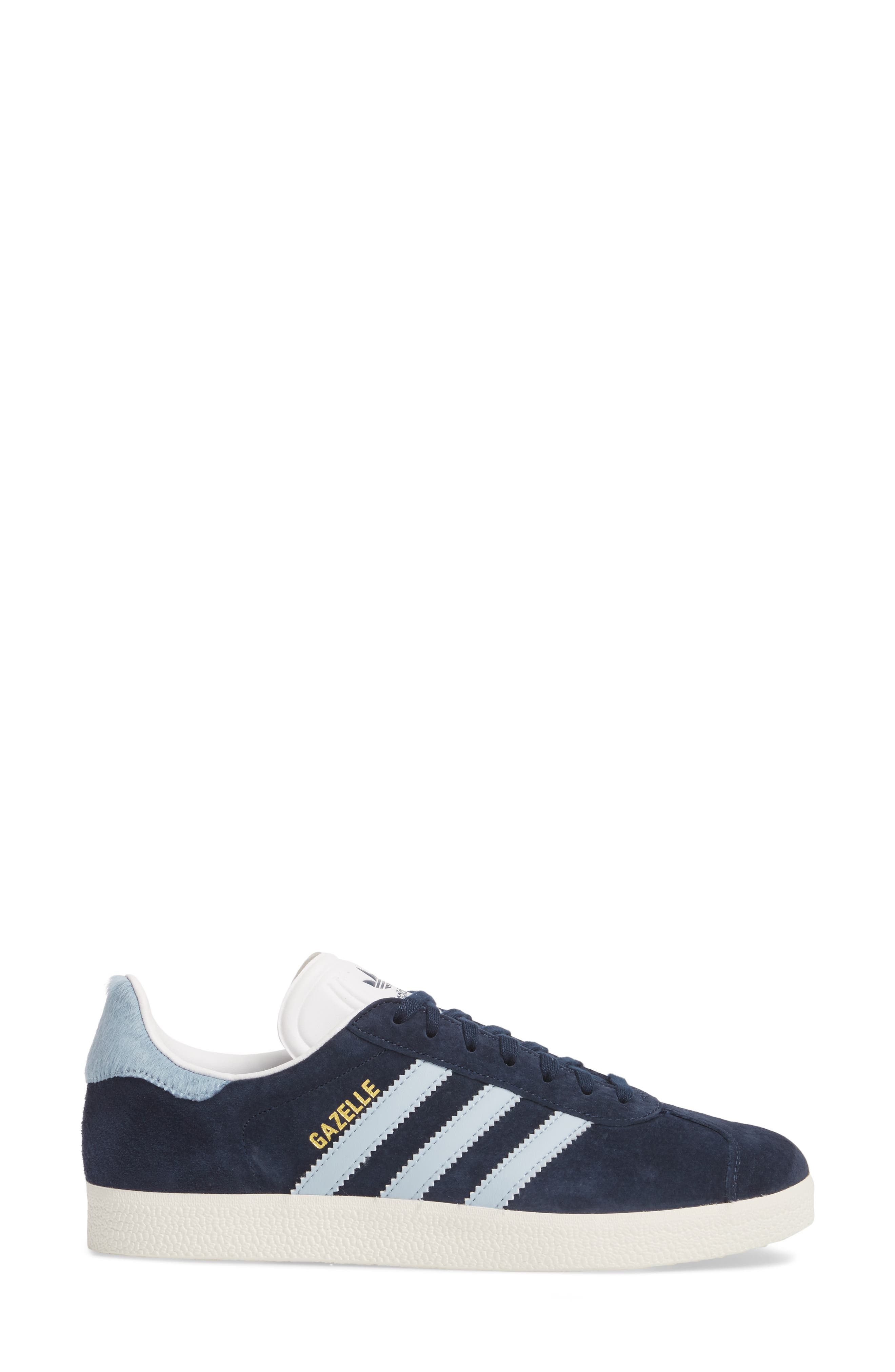 Gazelle Sneaker,                             Alternate thumbnail 3, color,                             Navy/ Easy Blue/ White
