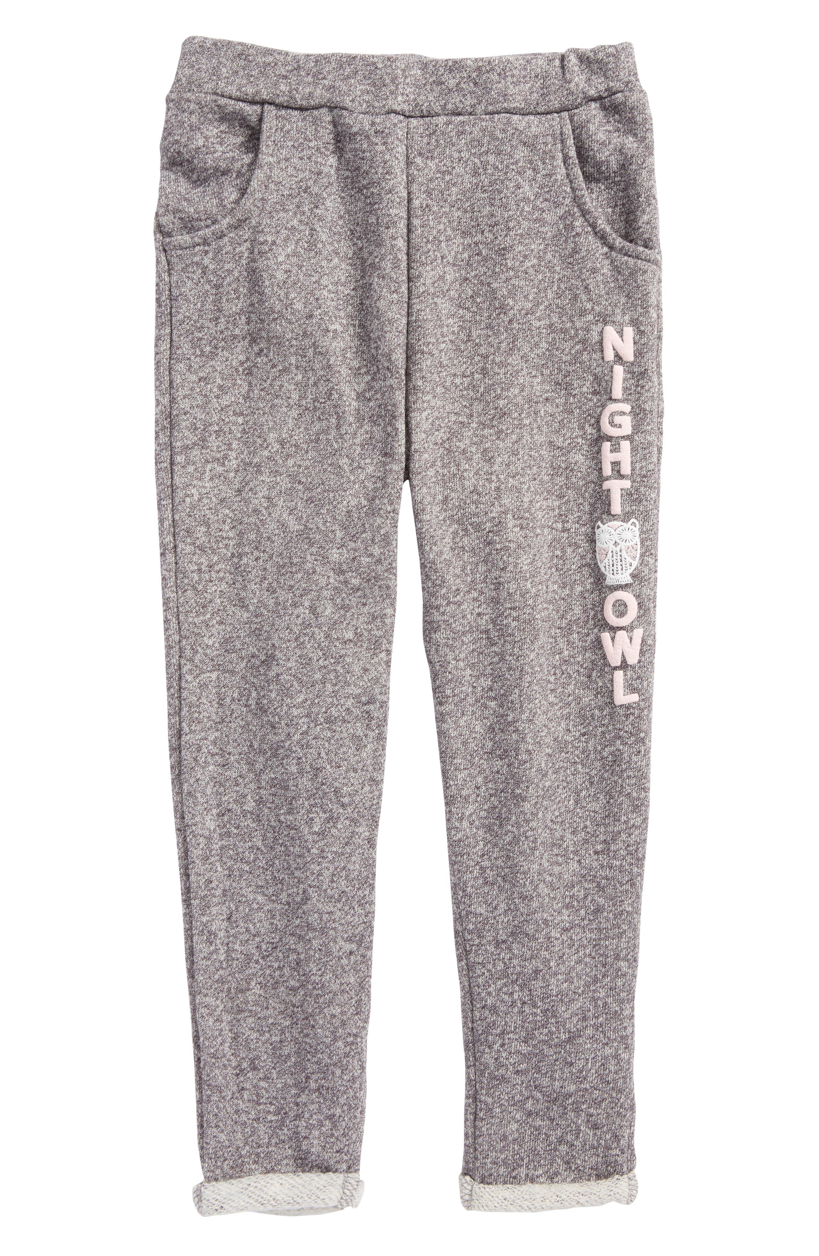 Alternate Image 1 Selected - O'Neill Frosty Fleece Night Owl Pants (Toddler Girls & Little Girls)