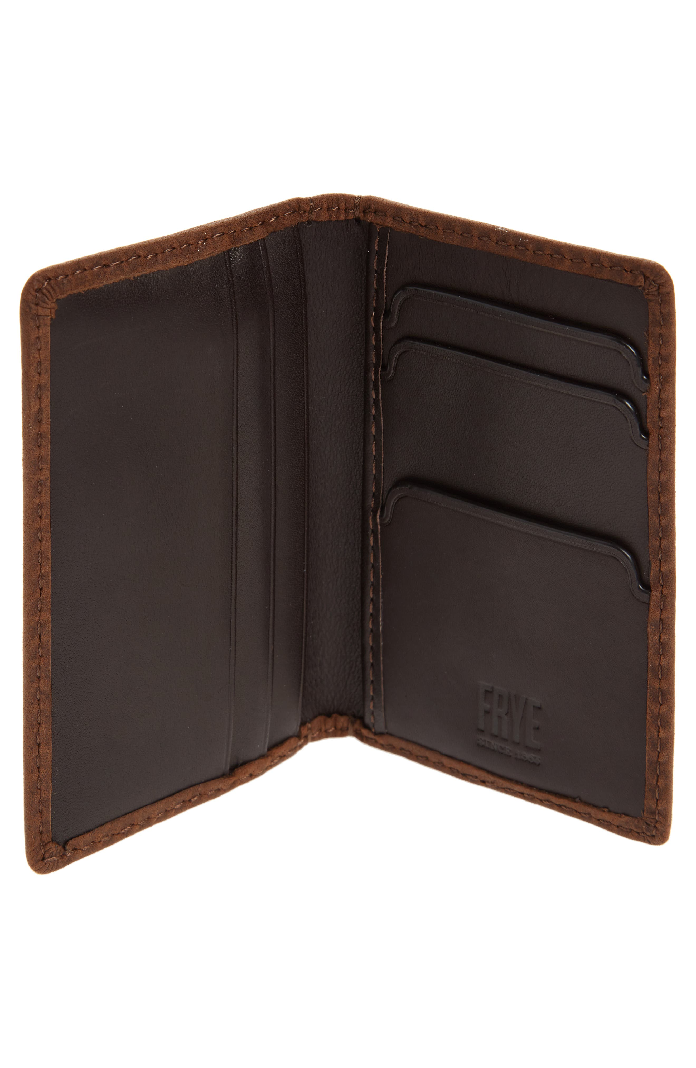 Oliver Leather Wallet,                             Alternate thumbnail 2, color,                             Dark Brown