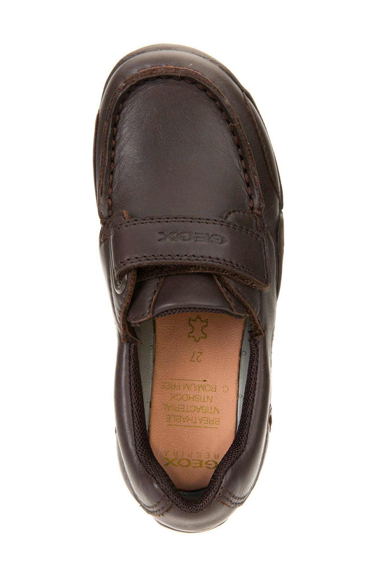 'Snake Moc 2' Leather Loafer,                             Alternate thumbnail 6, color,                             Coffee