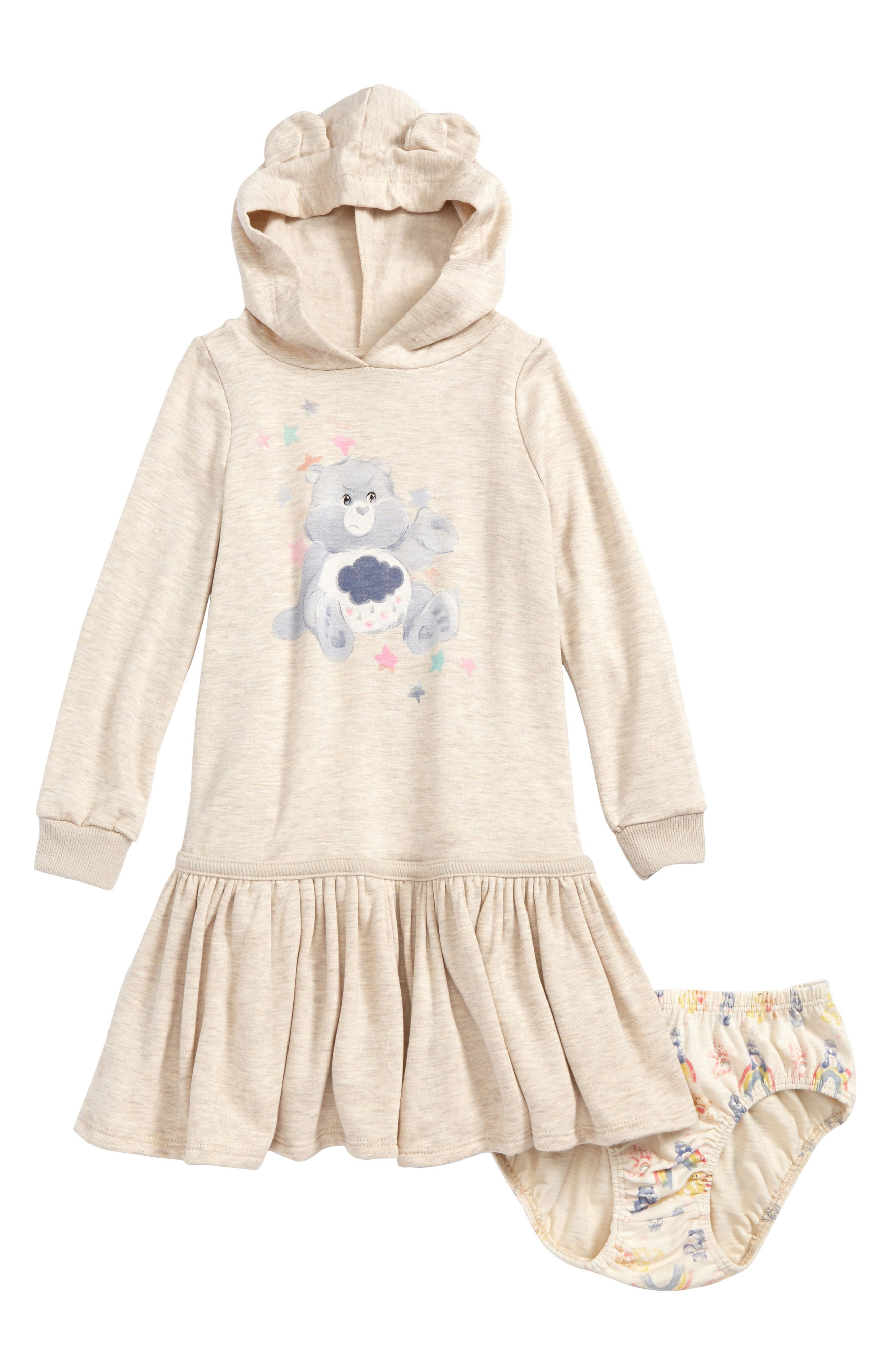 Care Bears<sup>™</sup> by Fine Threads Hooded Dress,                         Main,                         color, Natural