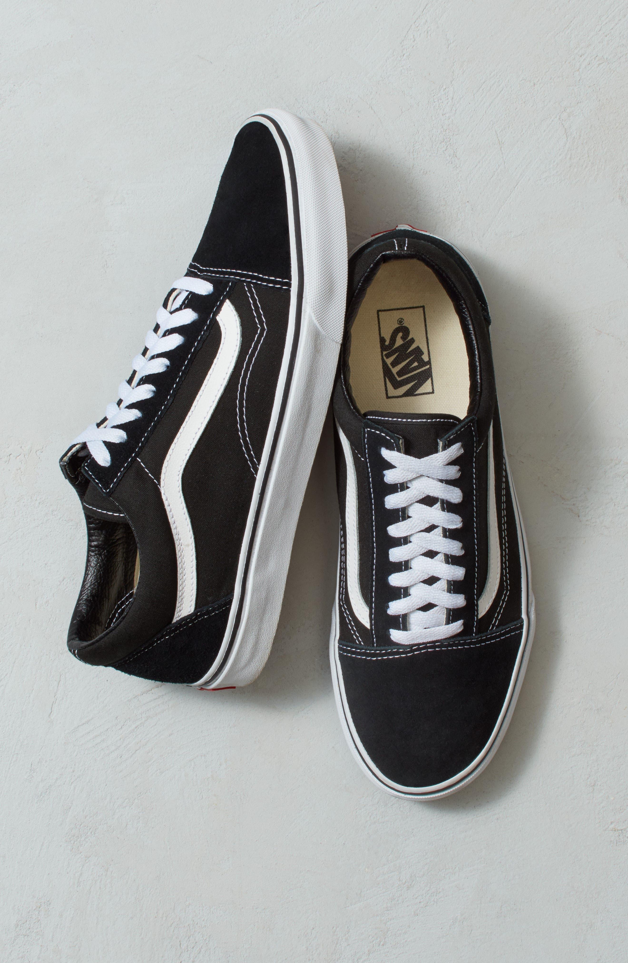 'Old Skool' Sneaker,                             Alternate thumbnail 5, color,                             Black