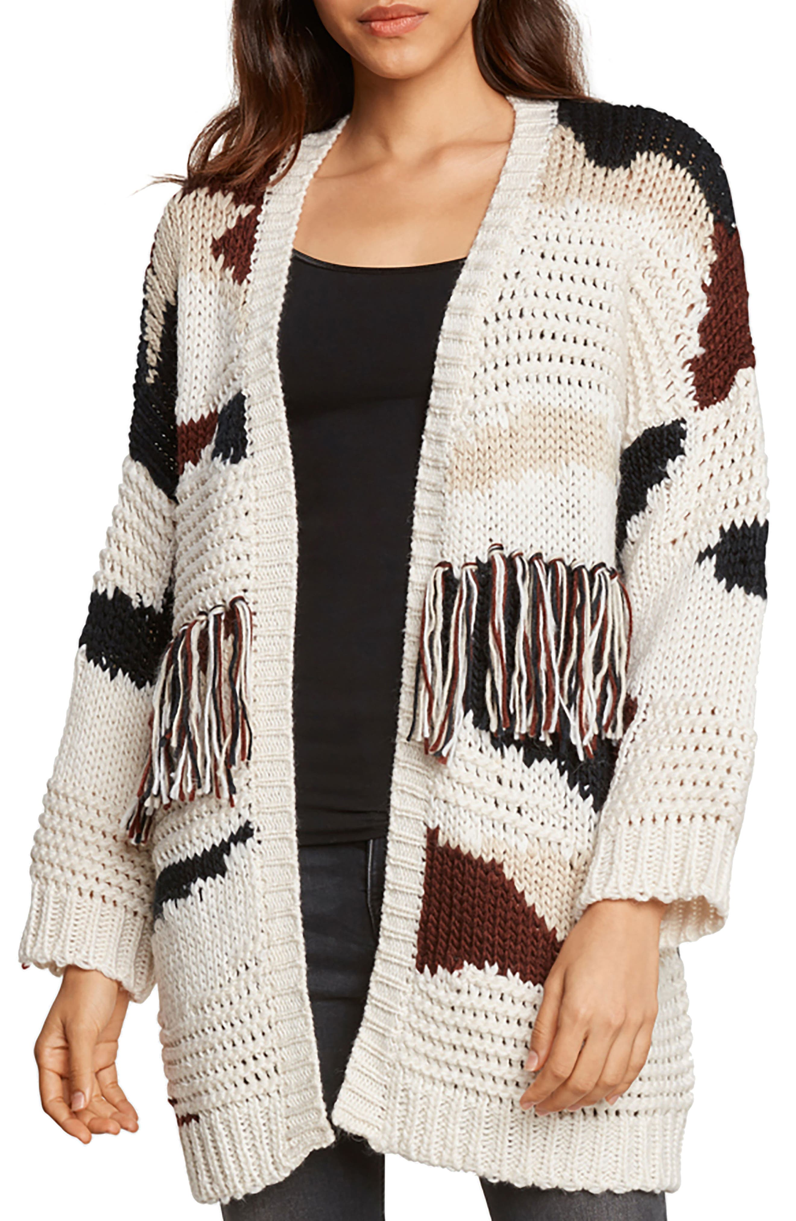 Alternate Image 1 Selected - Willow & Clay Chunky Fringe Cardigan