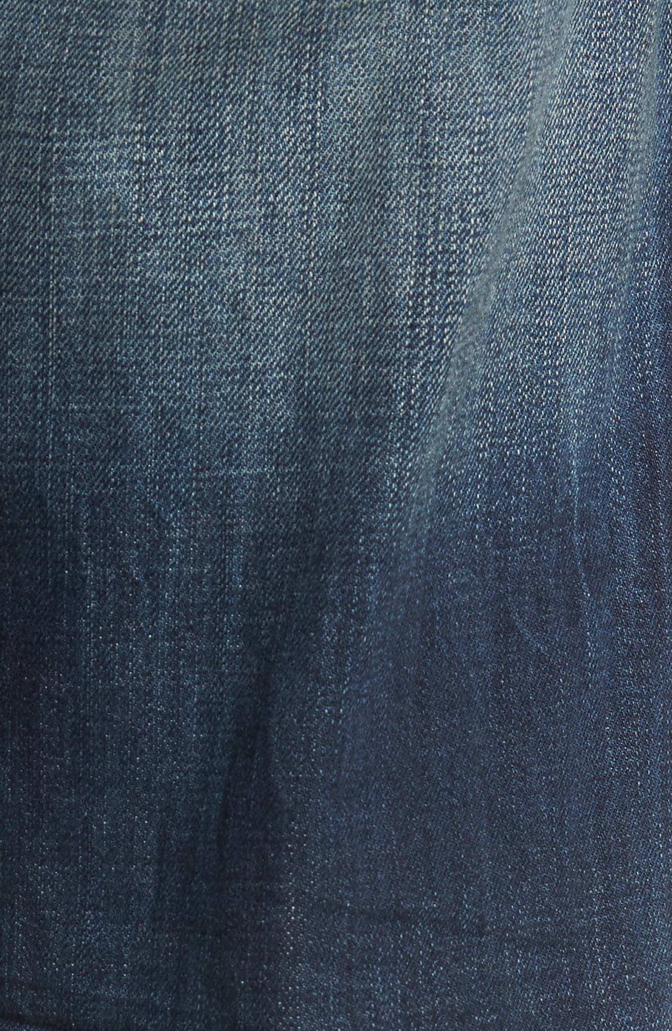 Geno Straight Leg Jeans,                             Alternate thumbnail 5, color,                             Mended Center Stage