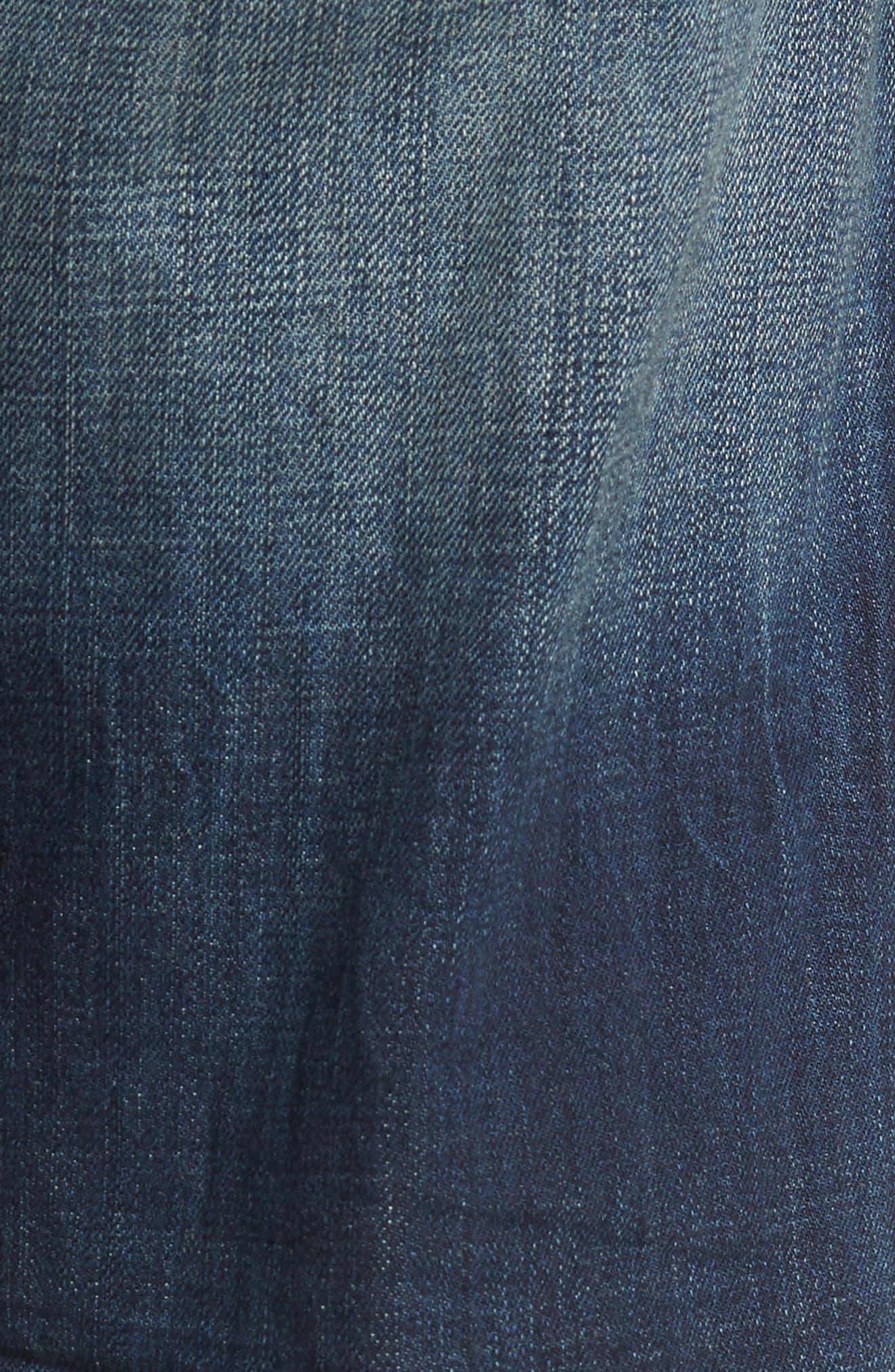 Alternate Image 5  - True Religion Brand Jeans Geno Straight Leg Jeans (Mended Center Stage)