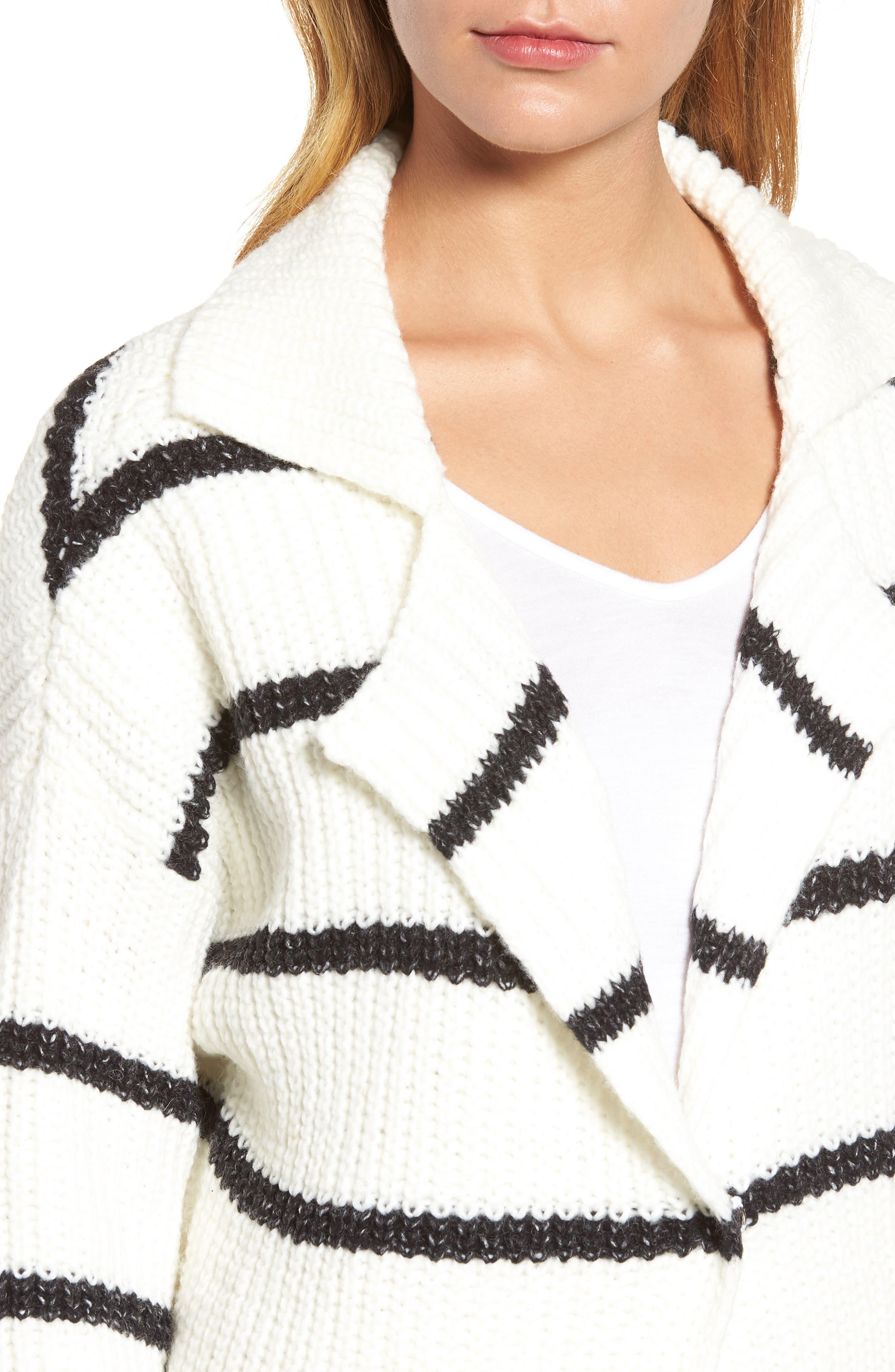 Alternate Image 4  - Press Oversized Notch Collar Cardigan