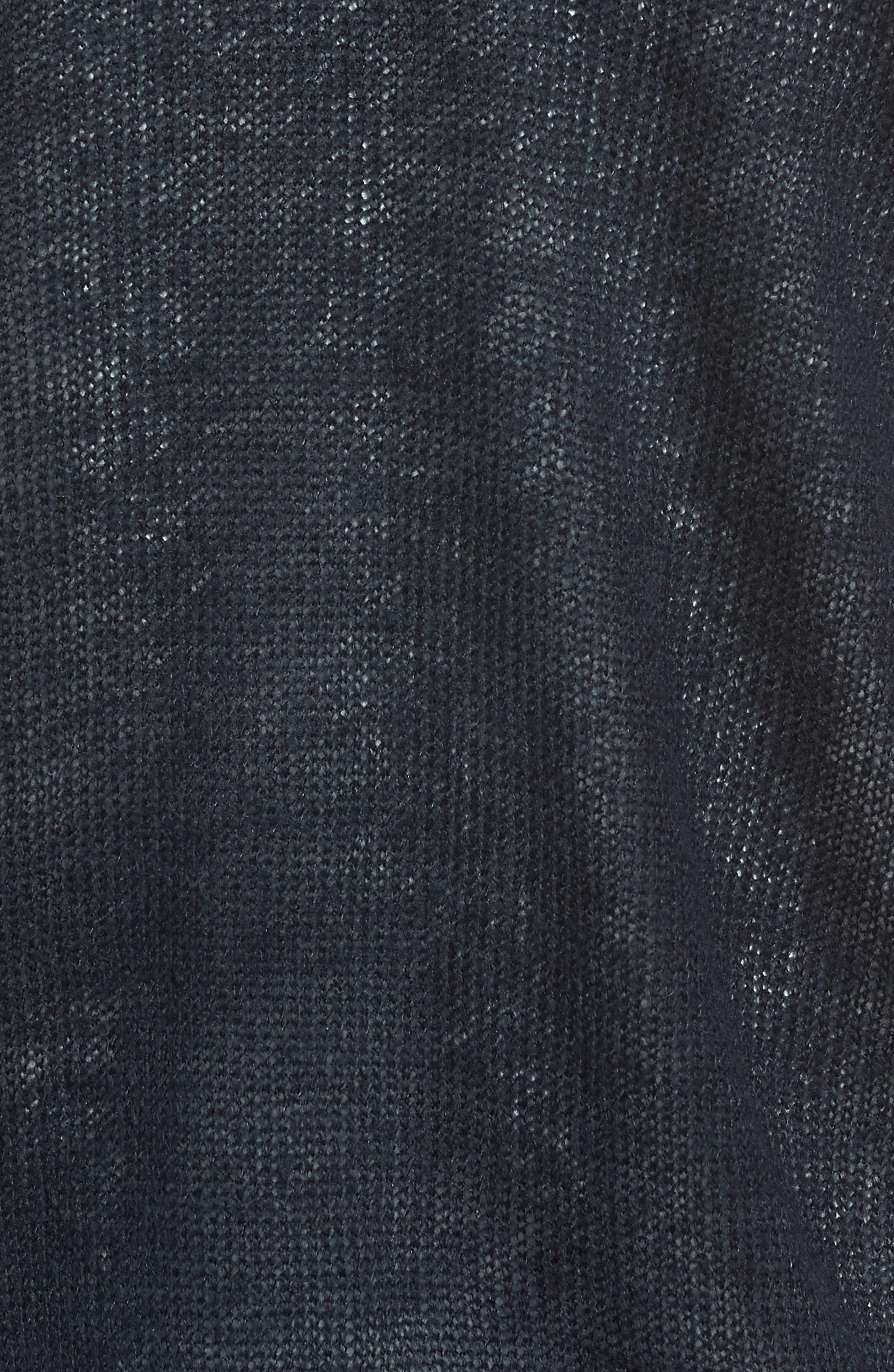 V-Neck Wrap Sweater,                             Alternate thumbnail 5, color,                             Deepest Navy