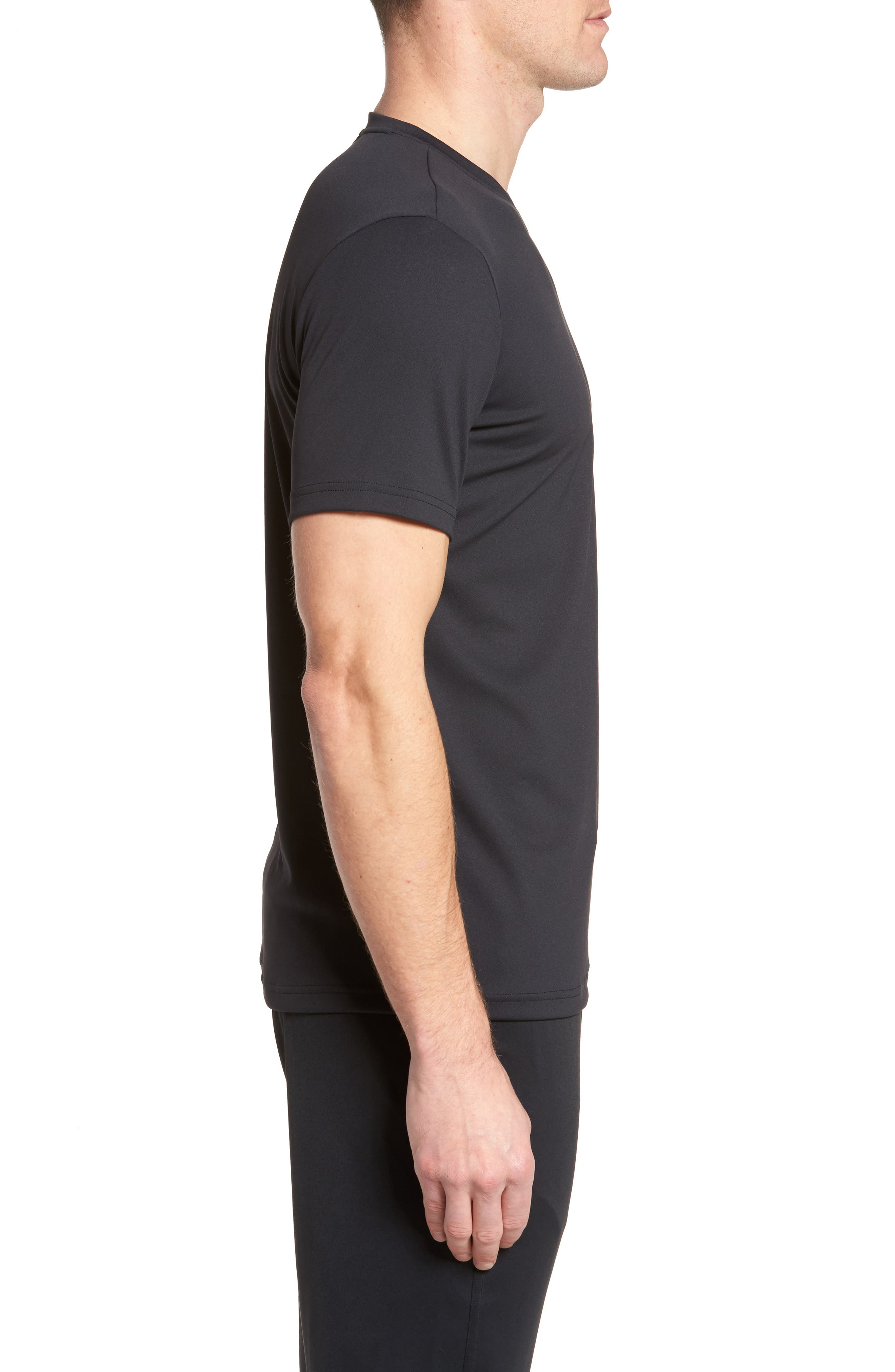 Energy V-Neck T-Shirt,                             Alternate thumbnail 3, color,                             Black