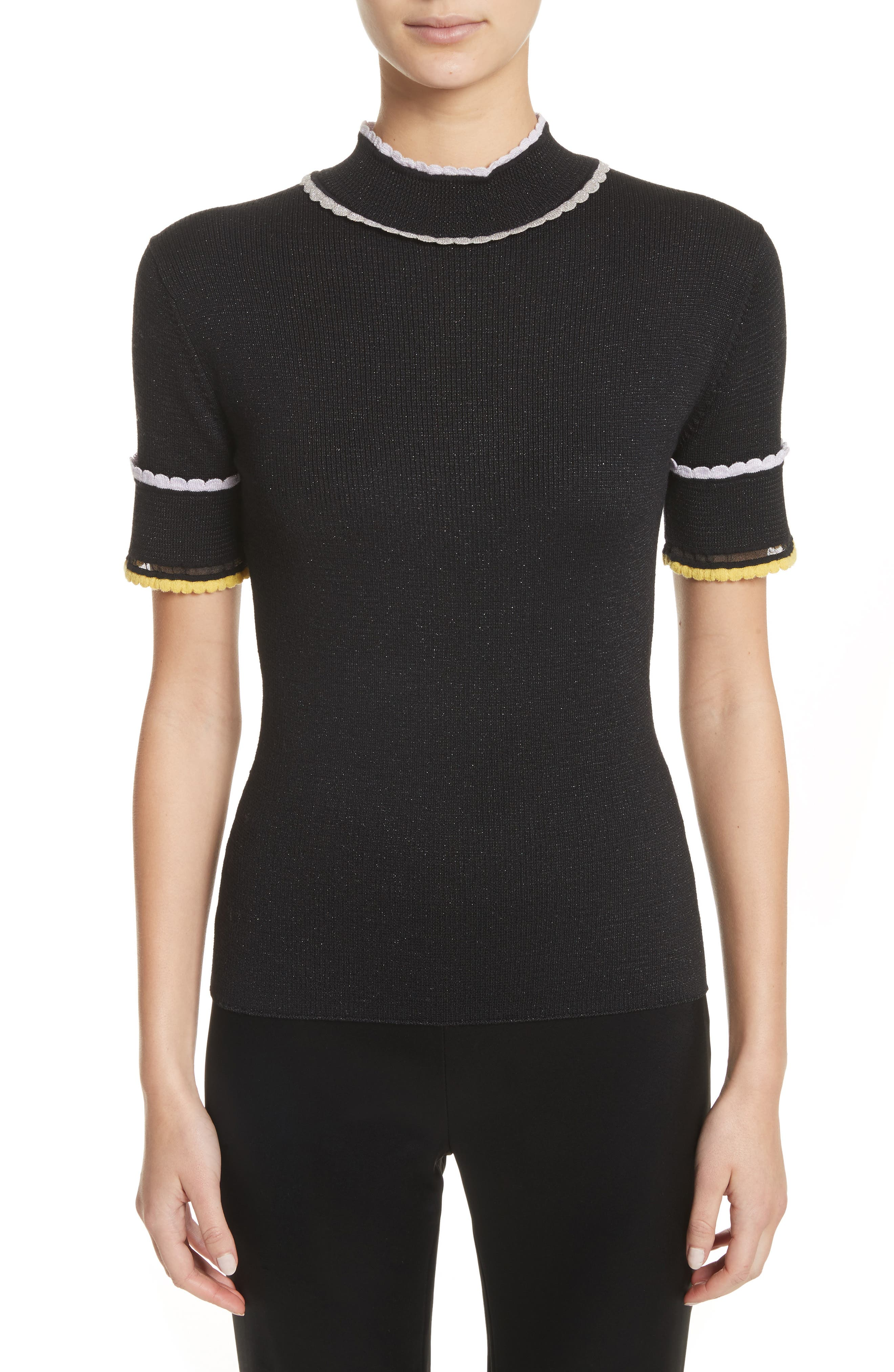Alternate Image 1 Selected - St. John Collection Scallop Trim Knit Top