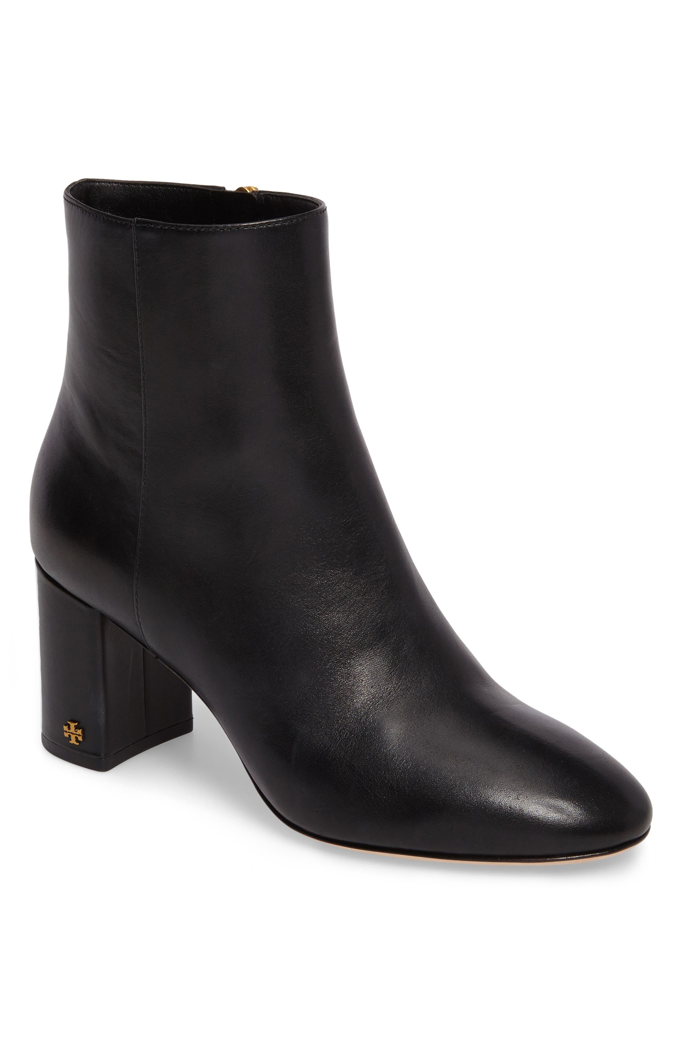 Brooke Bootie,                         Main,                         color, Black Leather