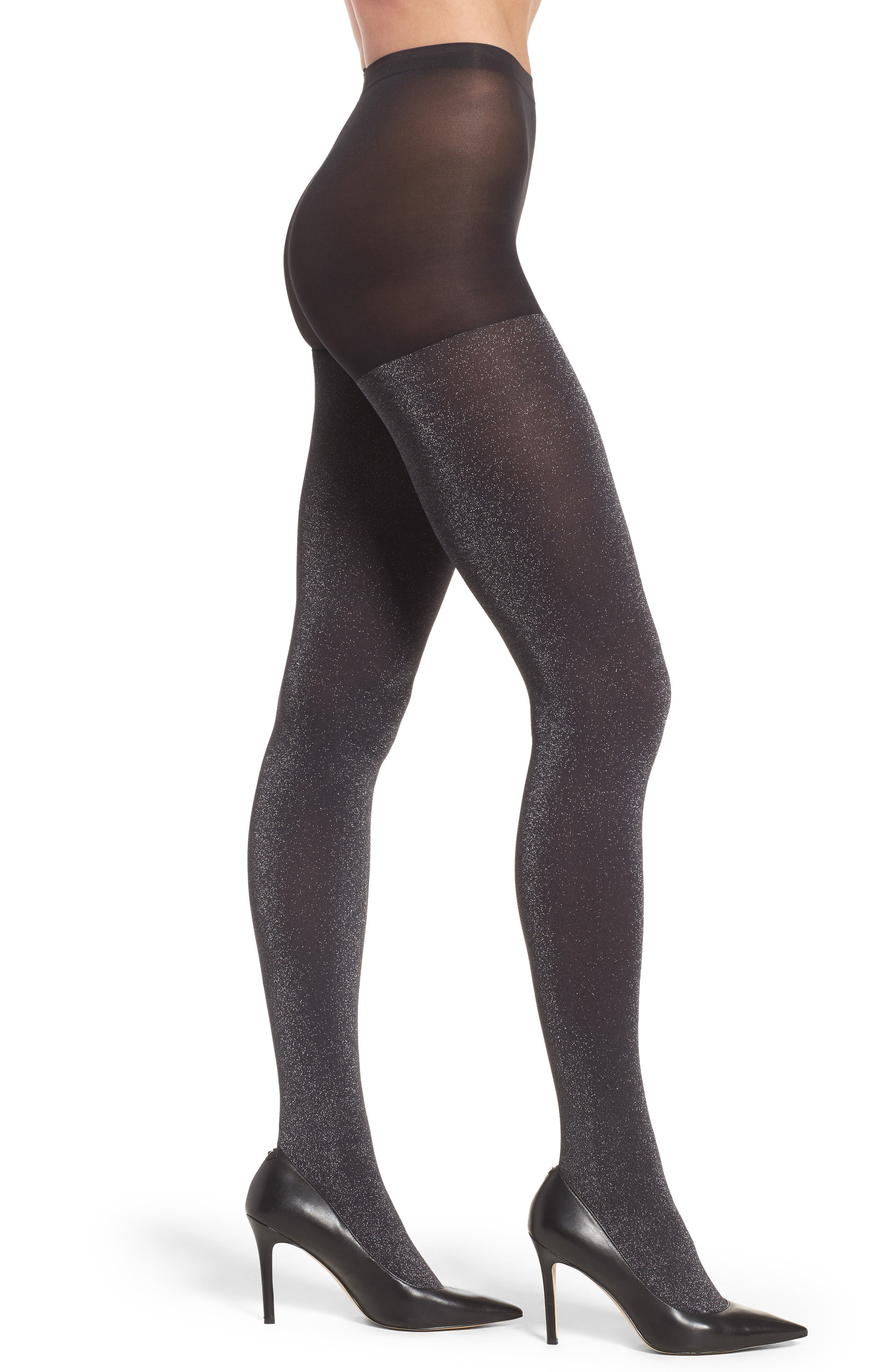 Hue Metallic Control Top Tights