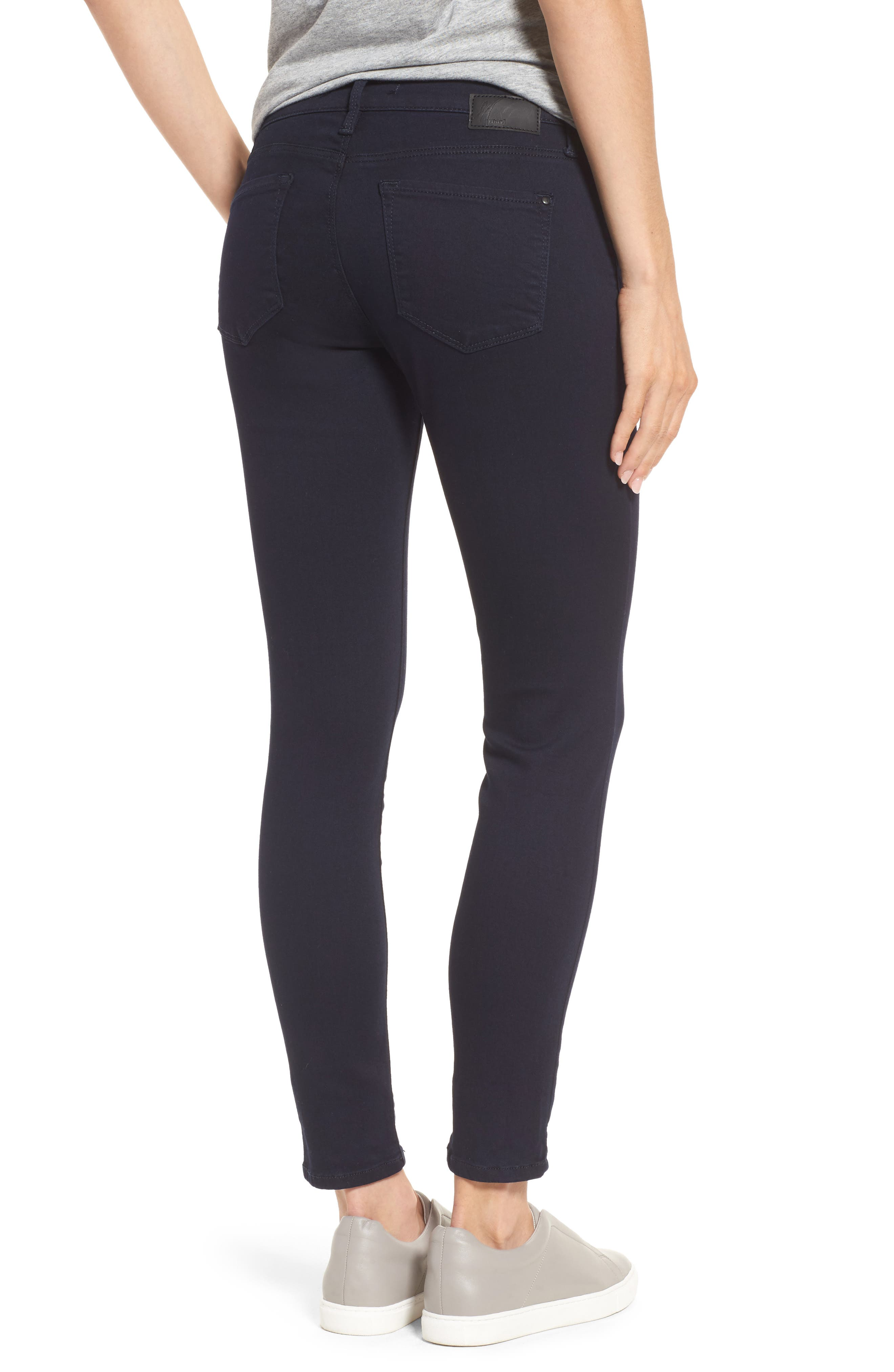 Alternate Image 2  - Mavi Jeans 'Alexa' Midrise Skinny Jeans (Dark Shanty)