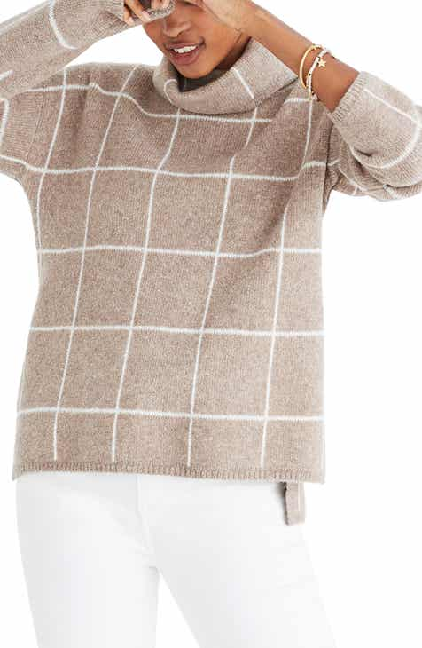 1c07cec556d2e Madewell Windowpane Turtleneck Sweater