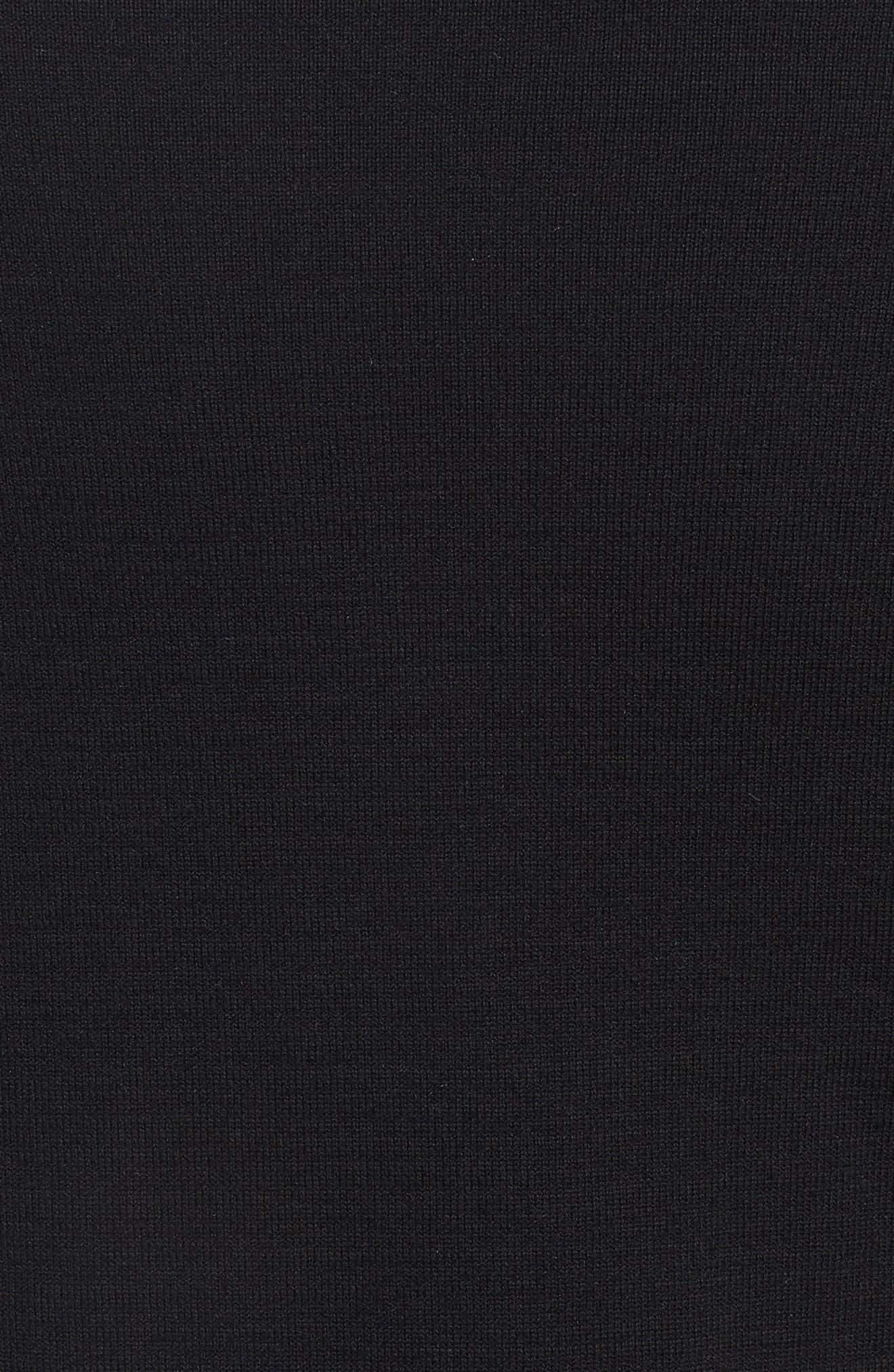 TW Cotton Blend Sweatshirt,                             Alternate thumbnail 5, color,                             Black/ Black