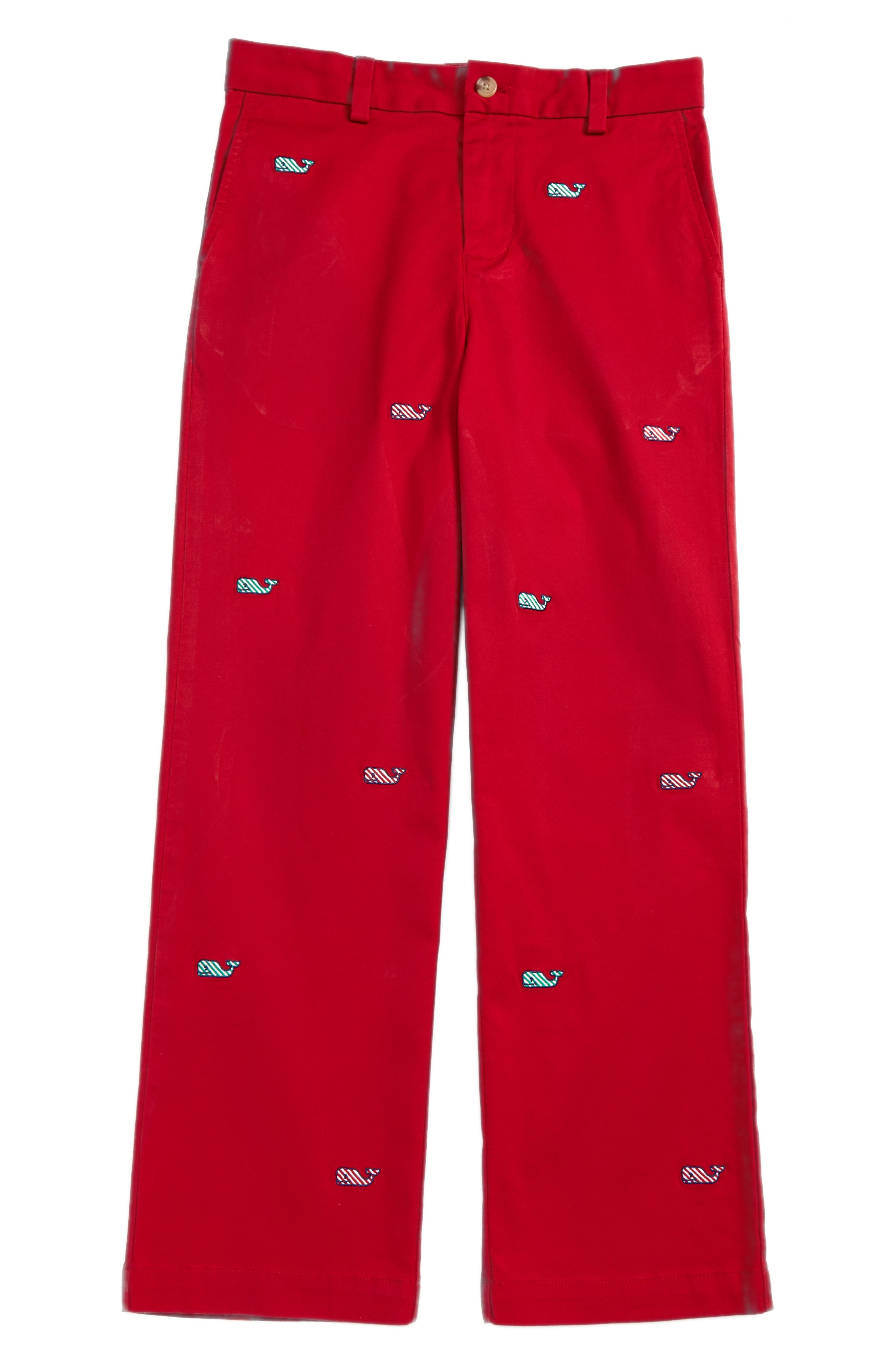 Candy Cane Whale Breaker Pants,                             Main thumbnail 1, color,                             Lifeguard Red