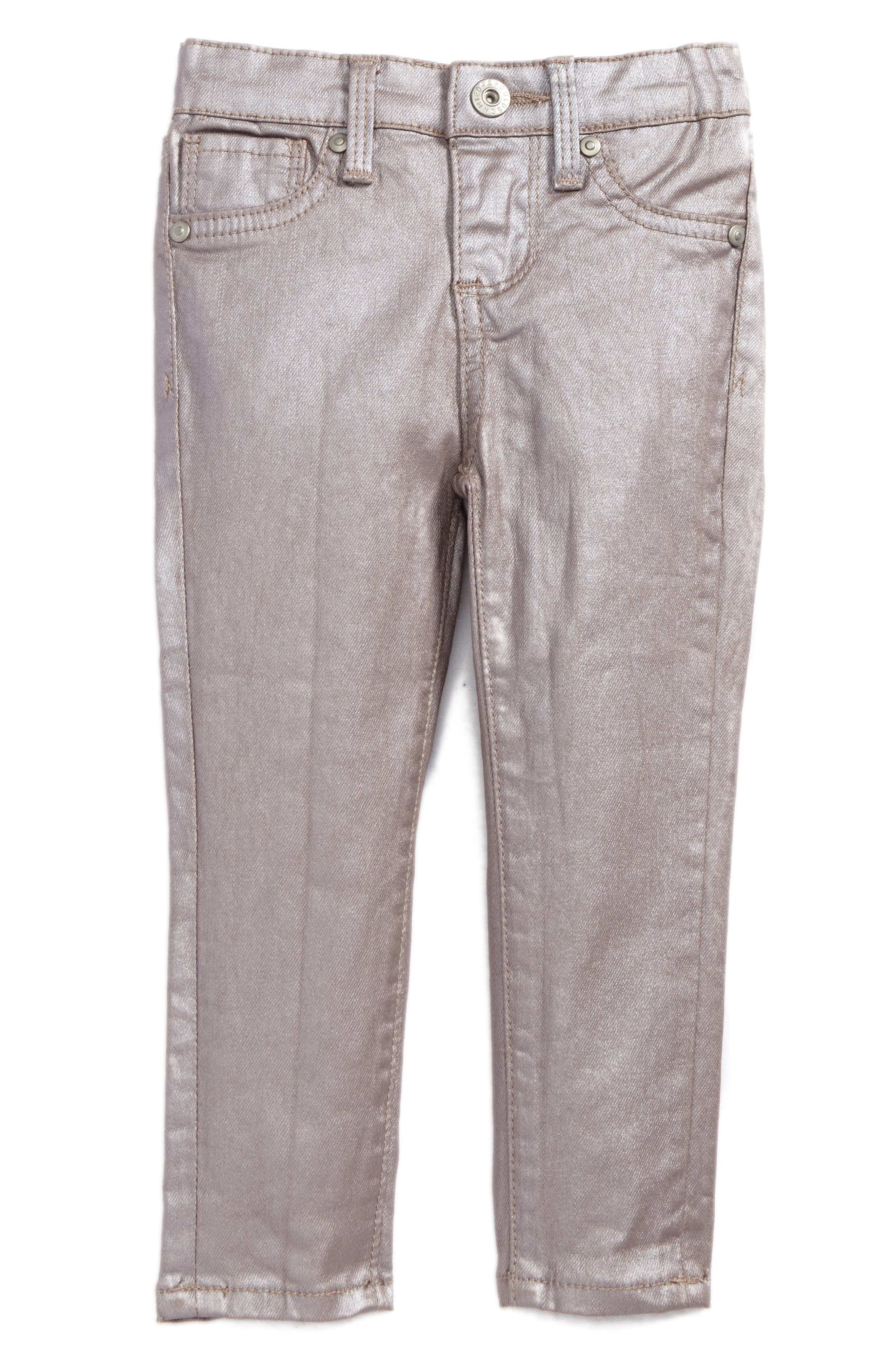Main Image - ag adriano goldschmied kids The Sleek Twiggy Super Skinny Jeans (Baby Girls)