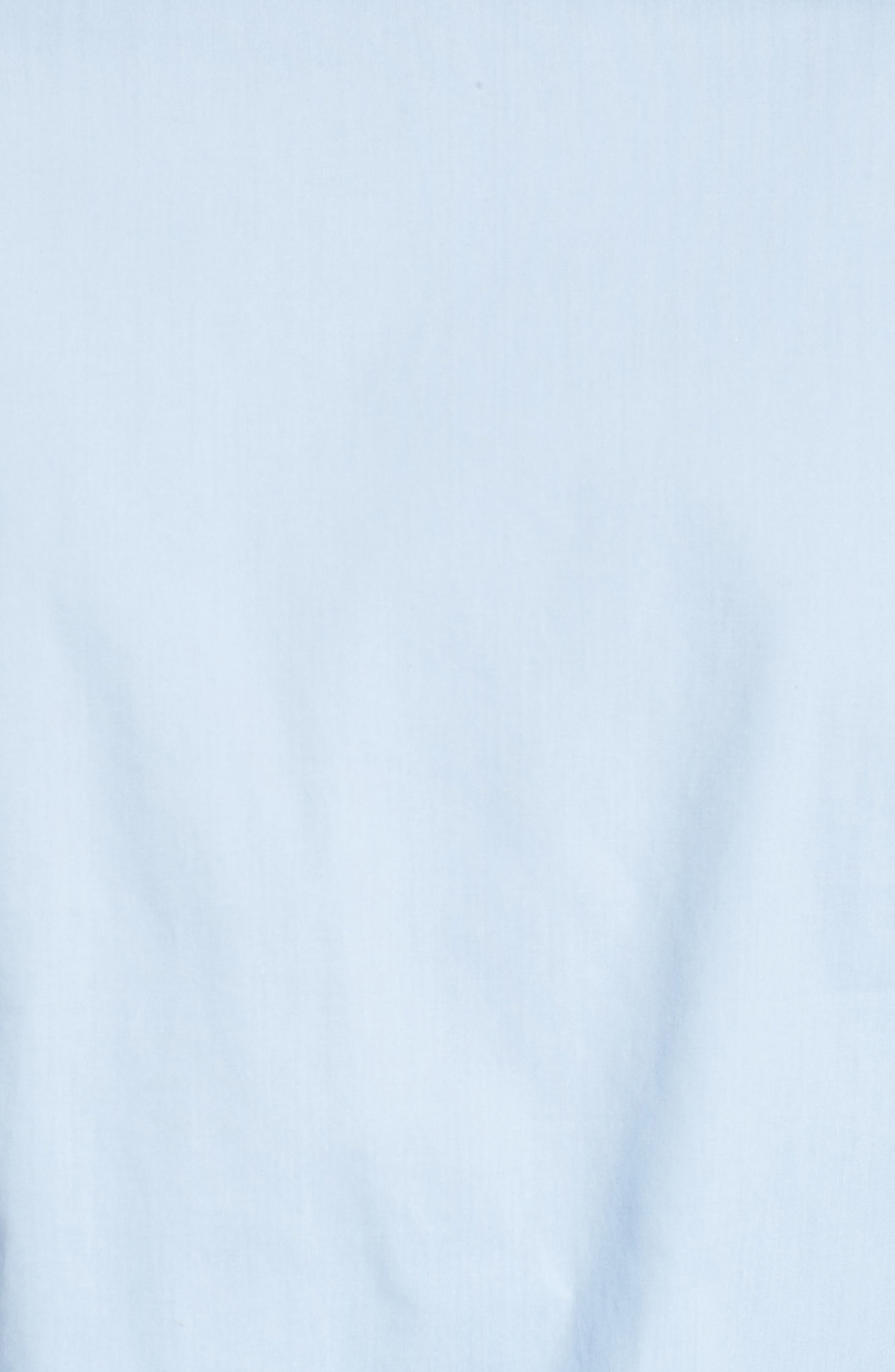 Tie Front Poplin Blouse,                             Alternate thumbnail 5, color,                             Light Blue