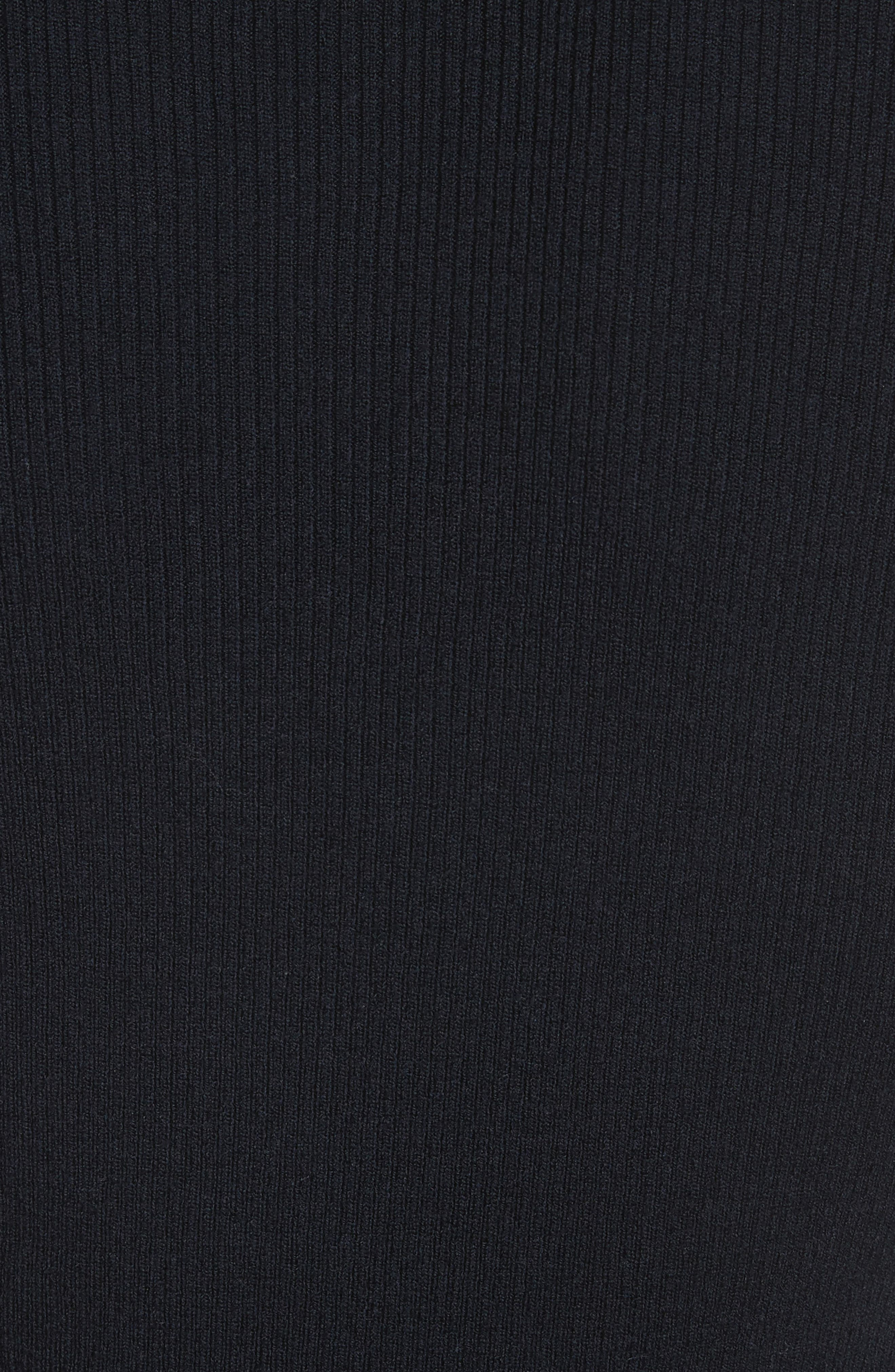 Nell Cutout Merino Wool Blend Sweater,                             Alternate thumbnail 5, color,                             Navy